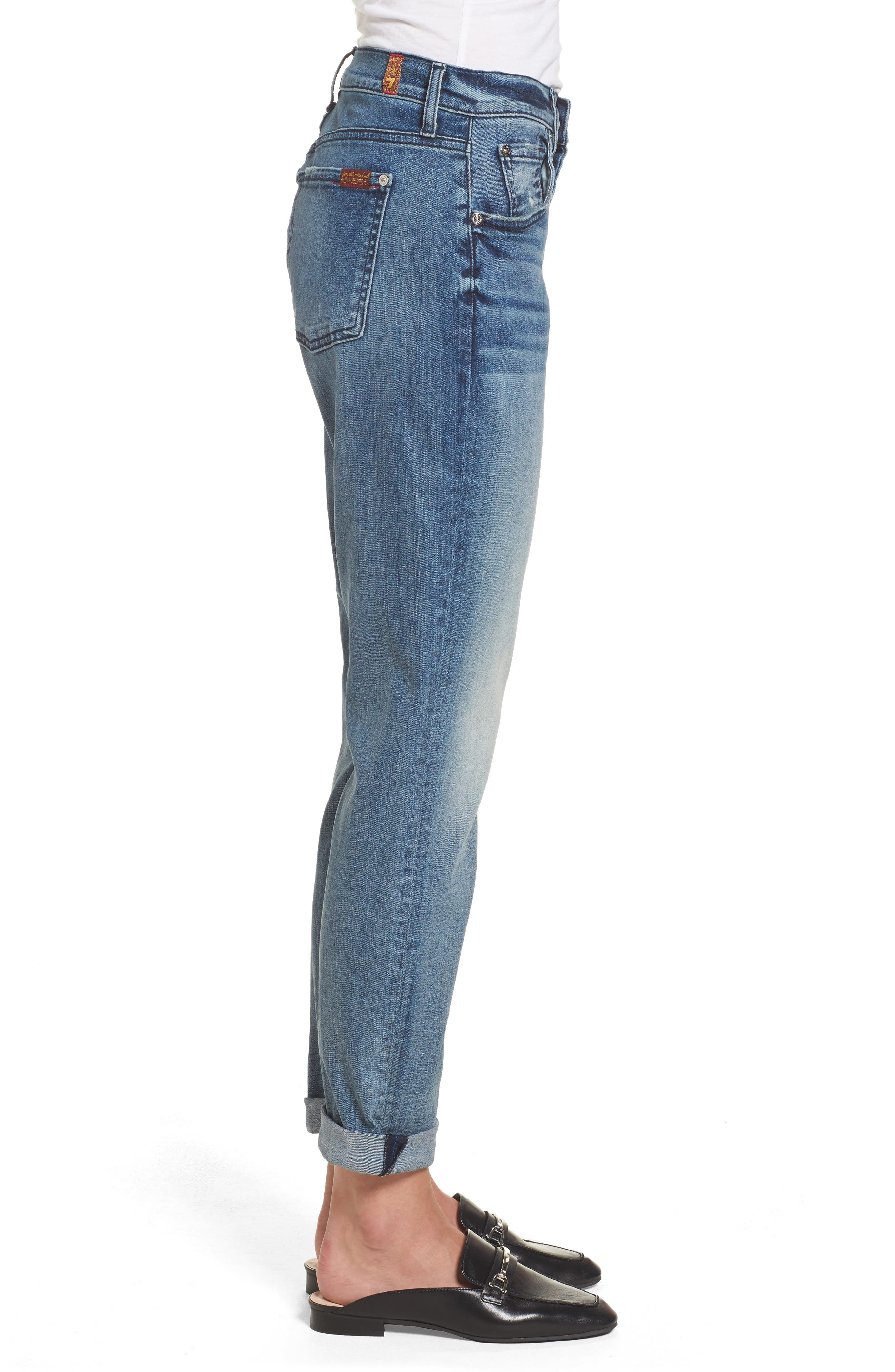 Josefina High Waist Crop Boyfriend Jeans,                             Alternate thumbnail 3, color,                             400