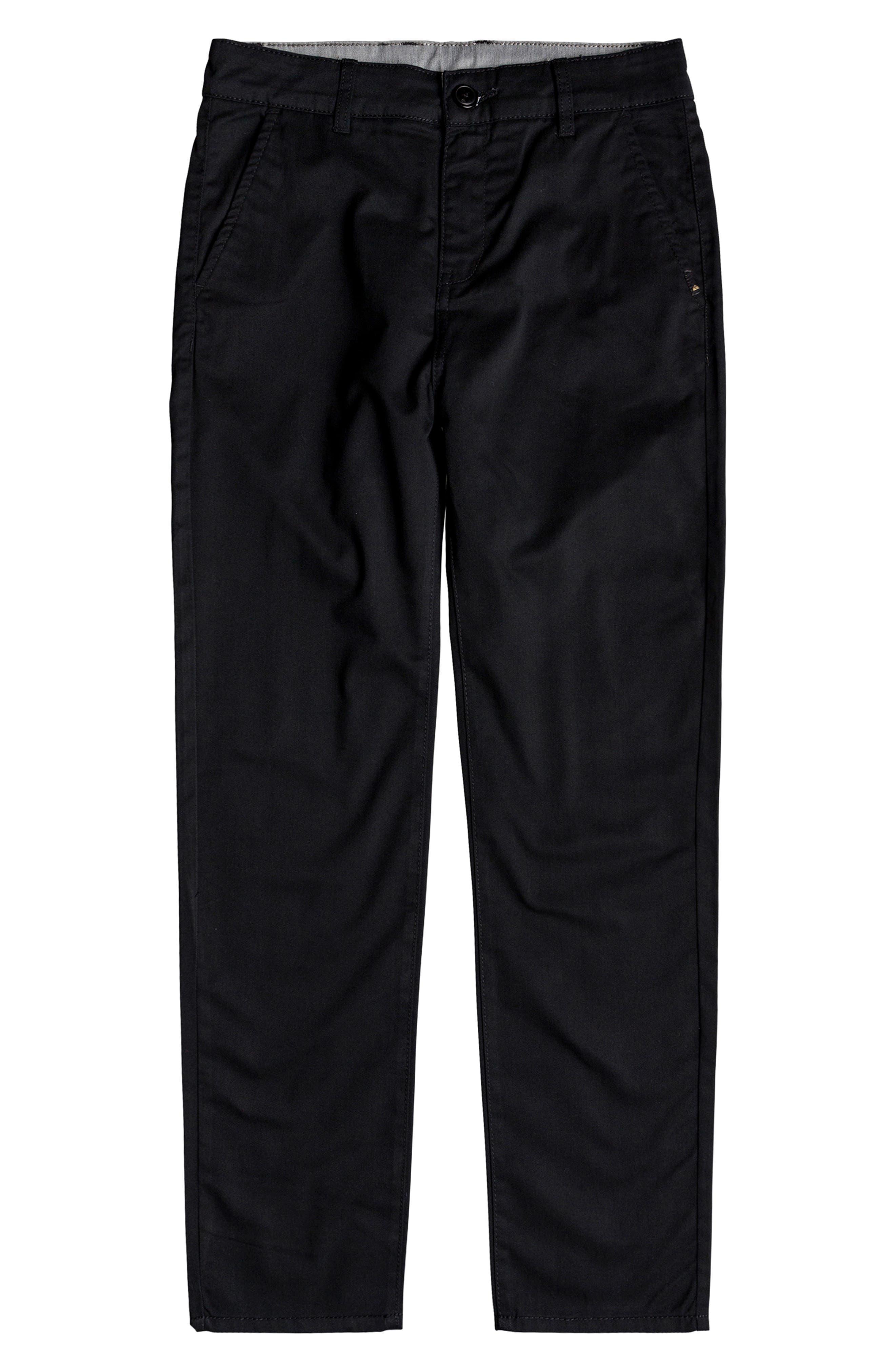 Boys Quiksilver Everyday Union Straight Leg Pants Size 23  Black