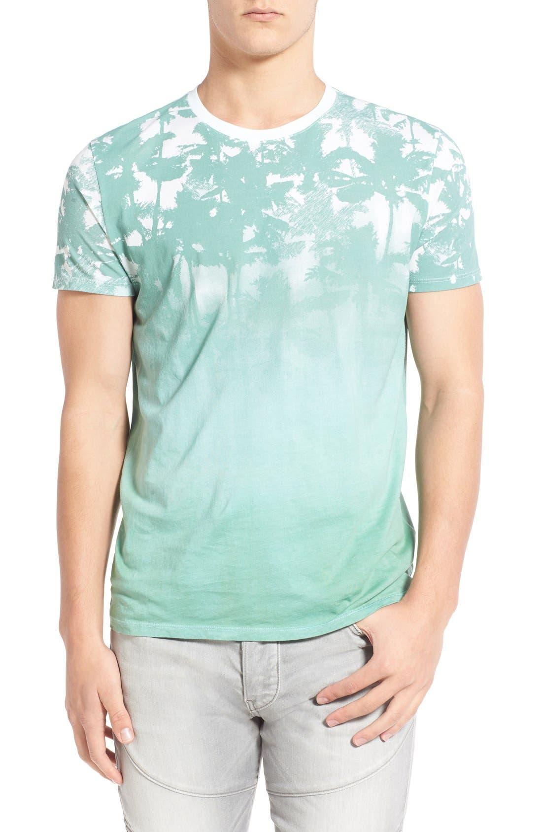 'Lost' Shadow Palm Print Crewneck T-Shirt,                             Main thumbnail 2, color,