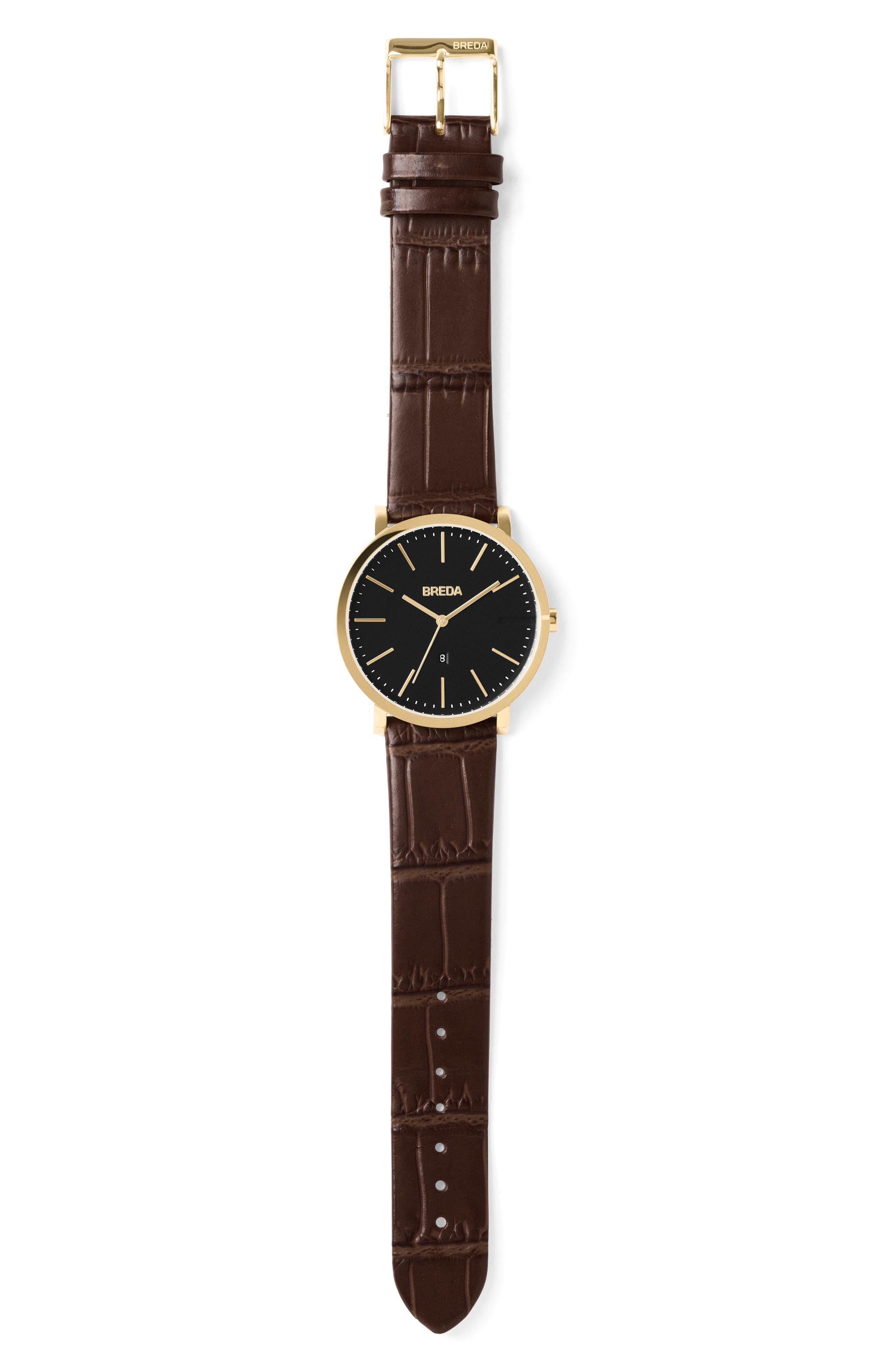 Breuer Leather Strap Watch, 39mm,                             Alternate thumbnail 13, color,