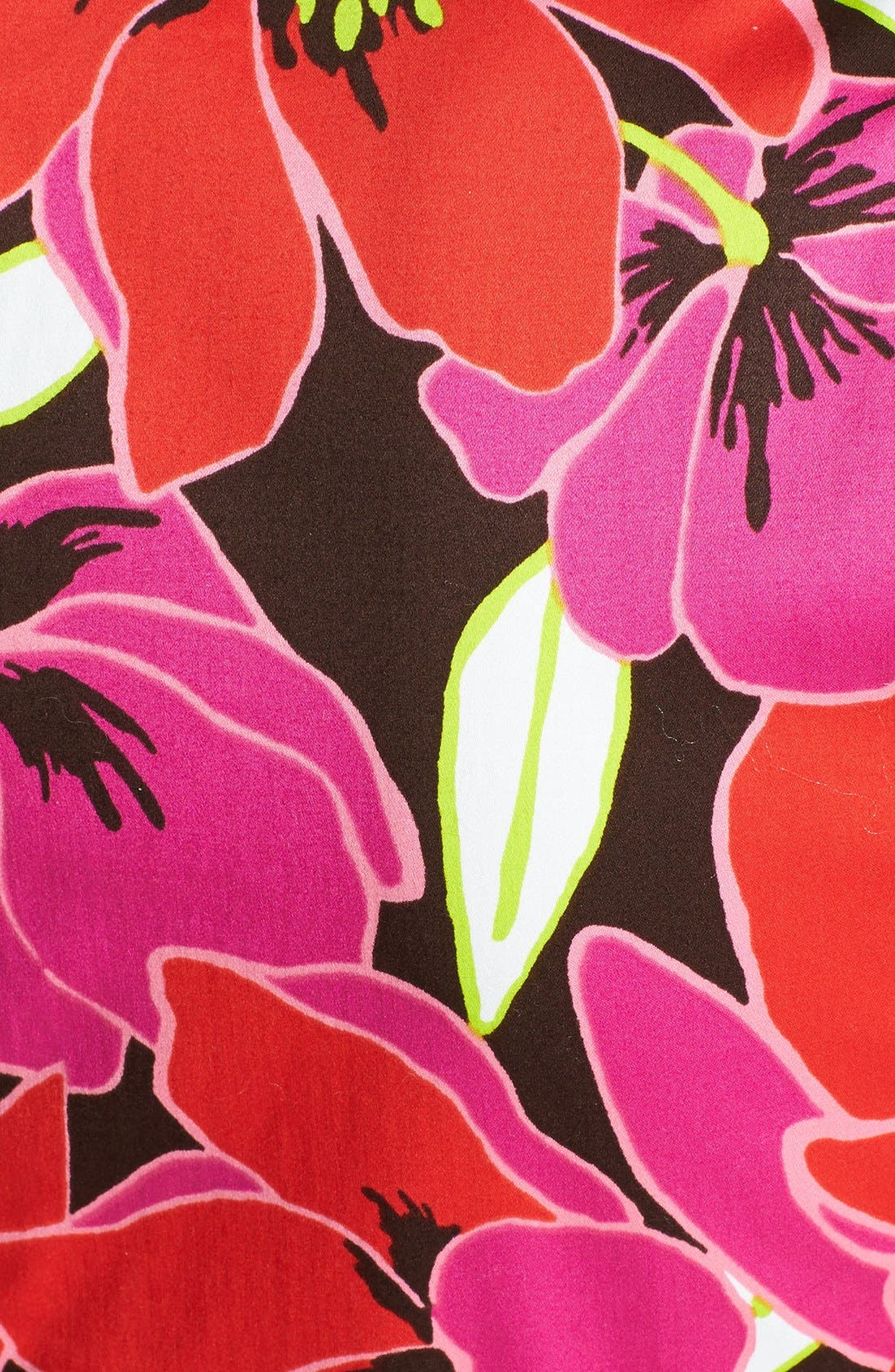KATE SPADE NEW YORK,                             tropical print peplum sheath dress,                             Alternate thumbnail 3, color,                             650