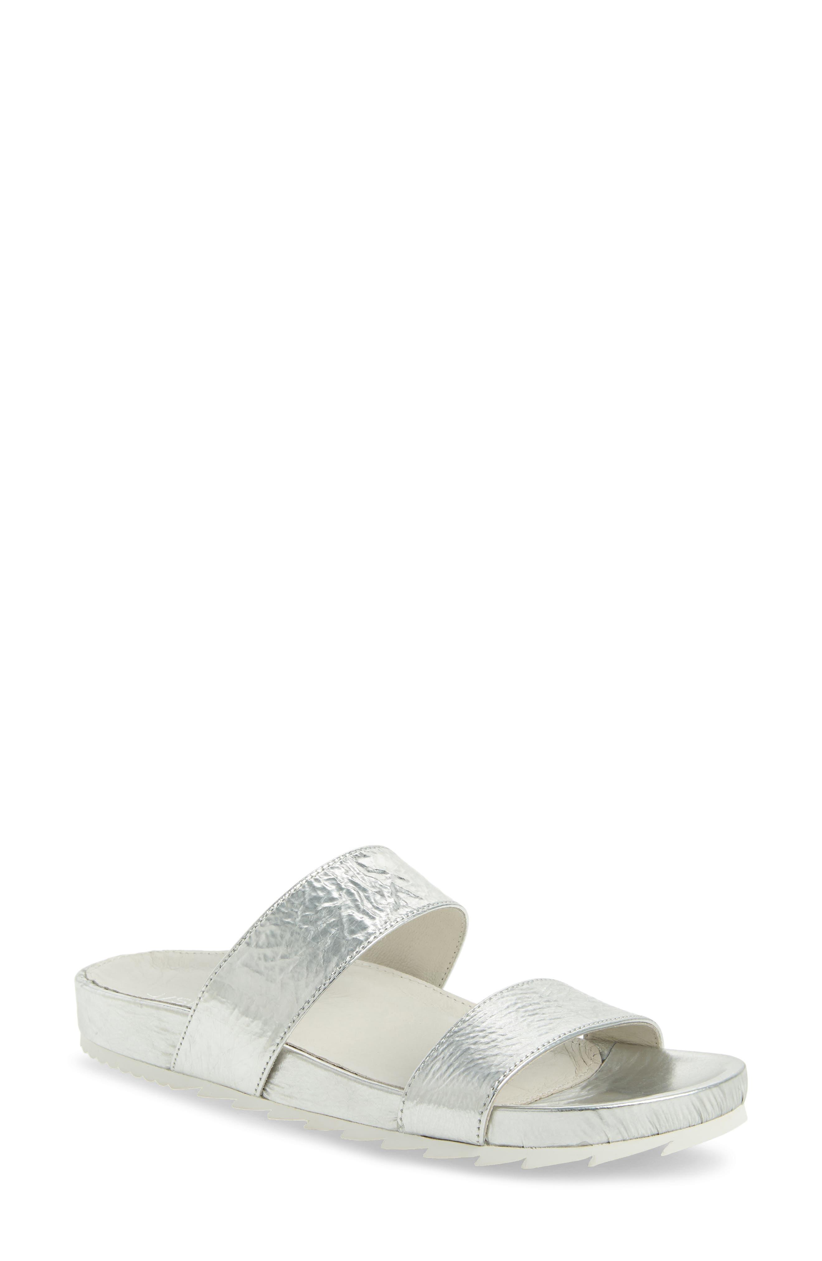 Jslides Edie Sandal, Metallic
