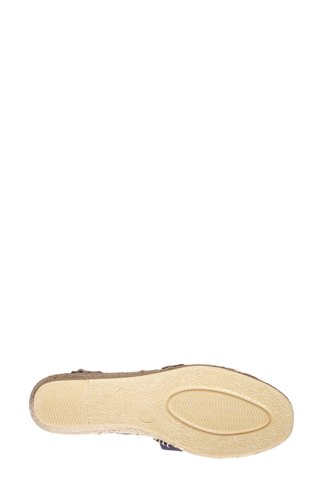 'Tarbes' Espadrille Wedge Sandal,                             Alternate thumbnail 3, color,                             BLUE