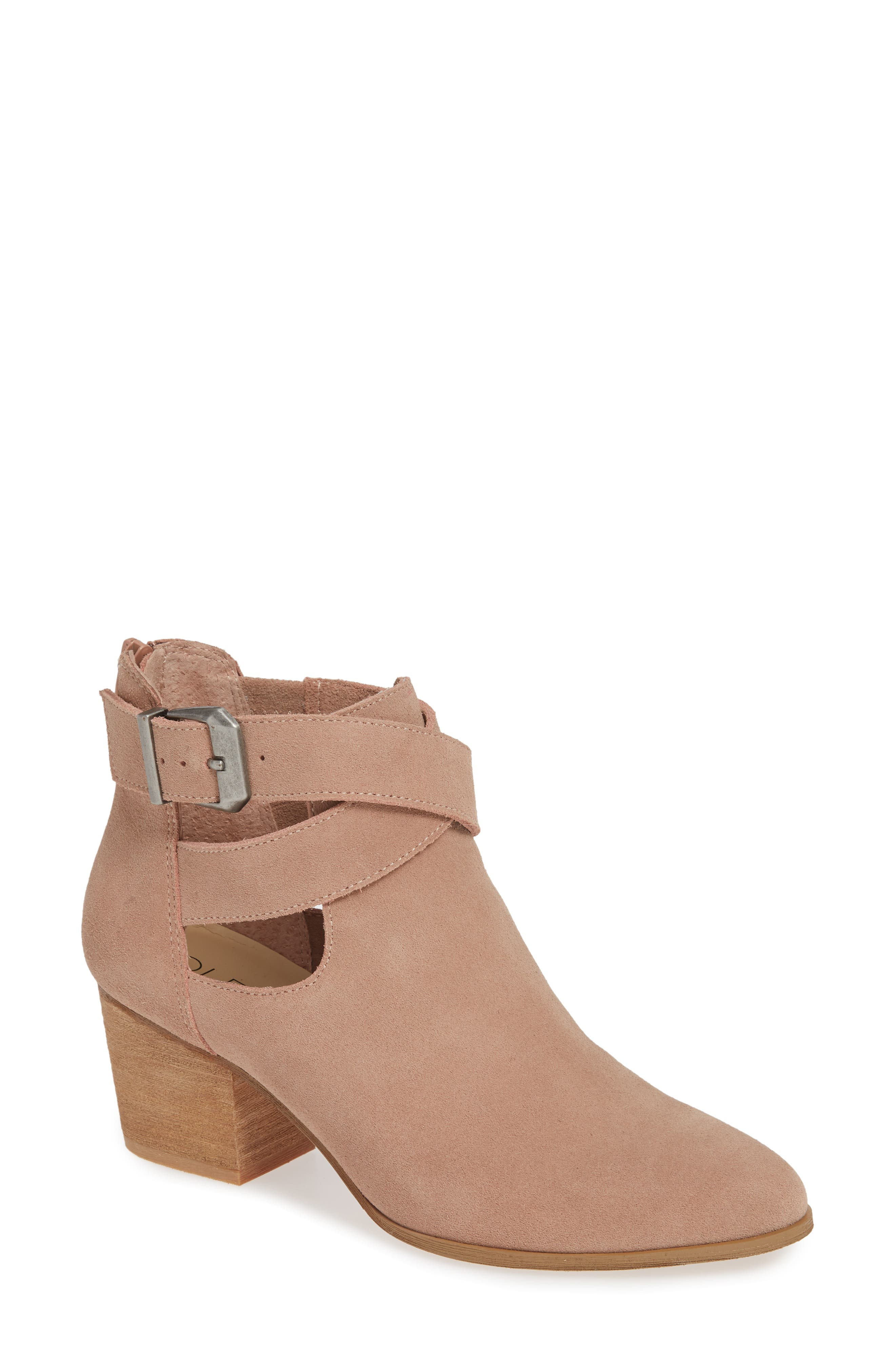 Azure Bootie,                         Main,                         color, DUSTY ROSE SUEDE
