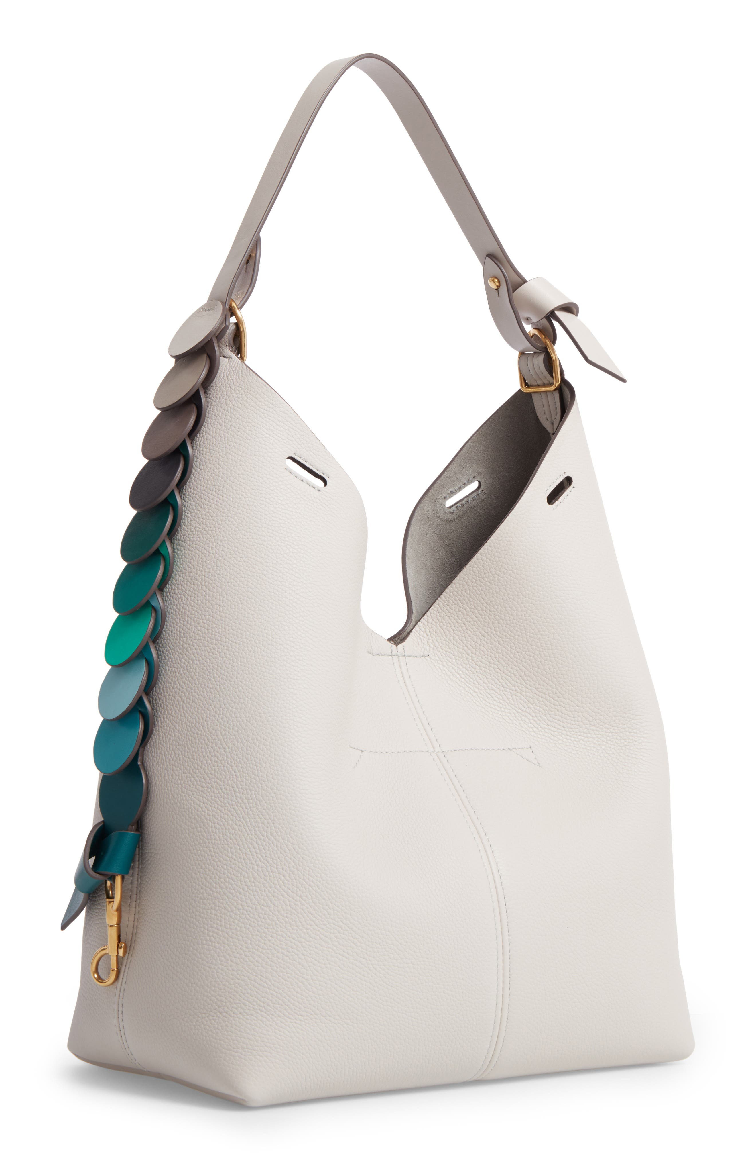 Small Leather Hobo,                         Main,                         color, 020