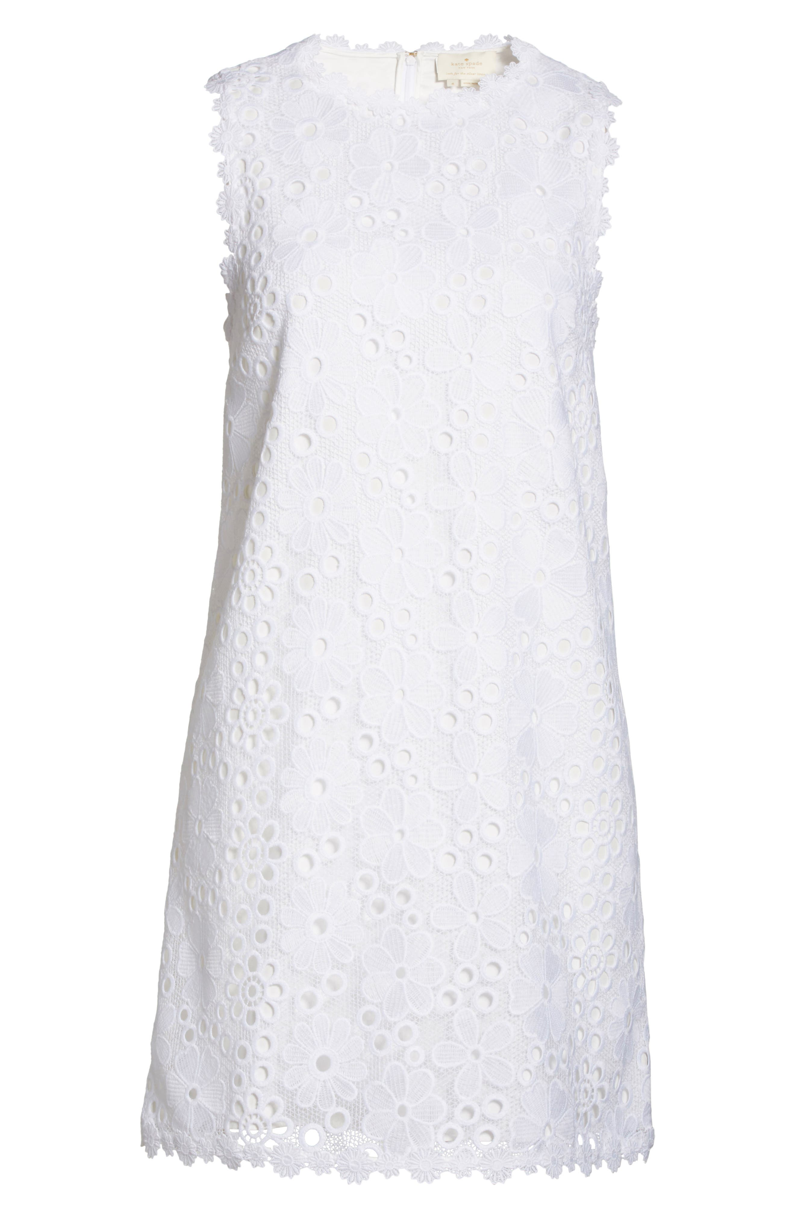 lace shift dress,                             Alternate thumbnail 6, color,                             107