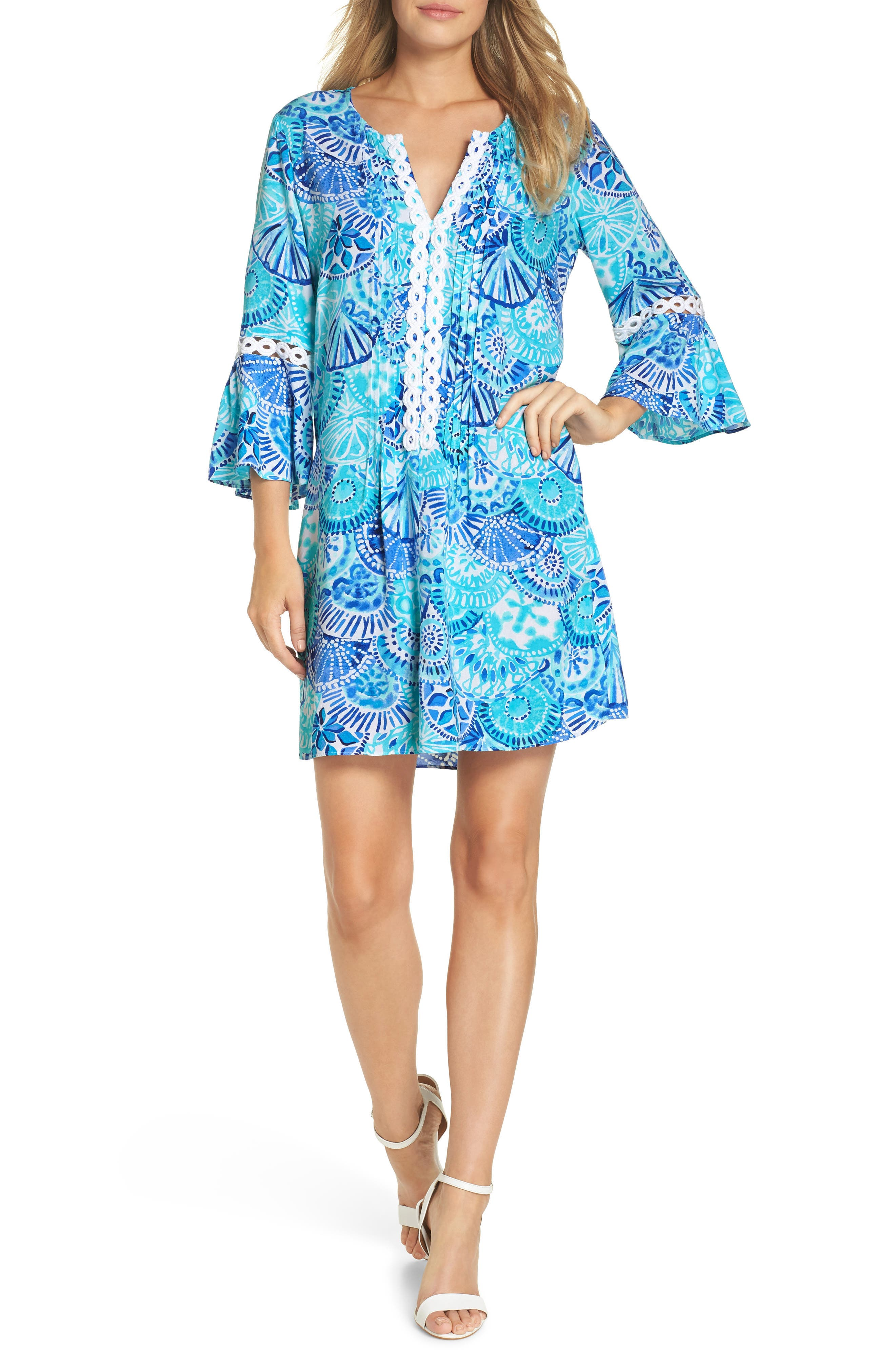 Lilly Pulitzer Hollie Cotton Shift Dress, Blue