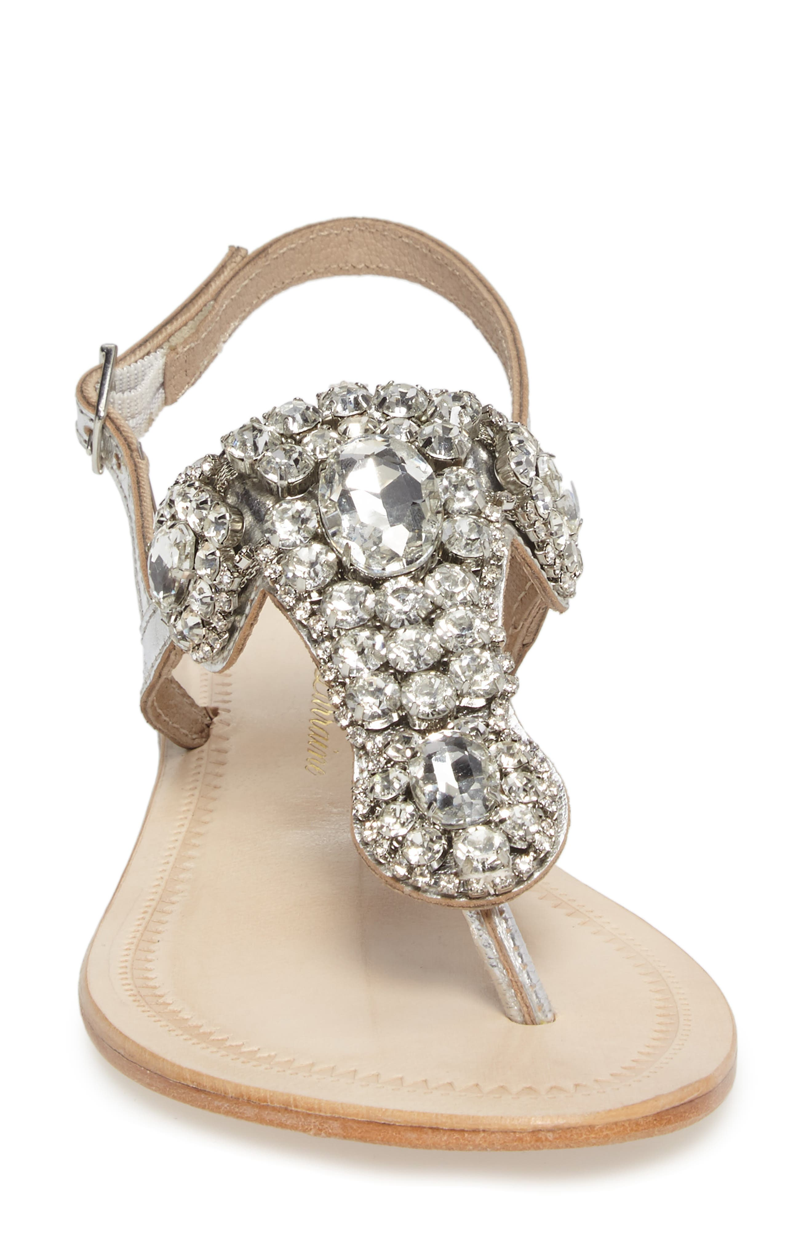 Bahama Crystal Embellished Sandal,                             Alternate thumbnail 4, color,                             045