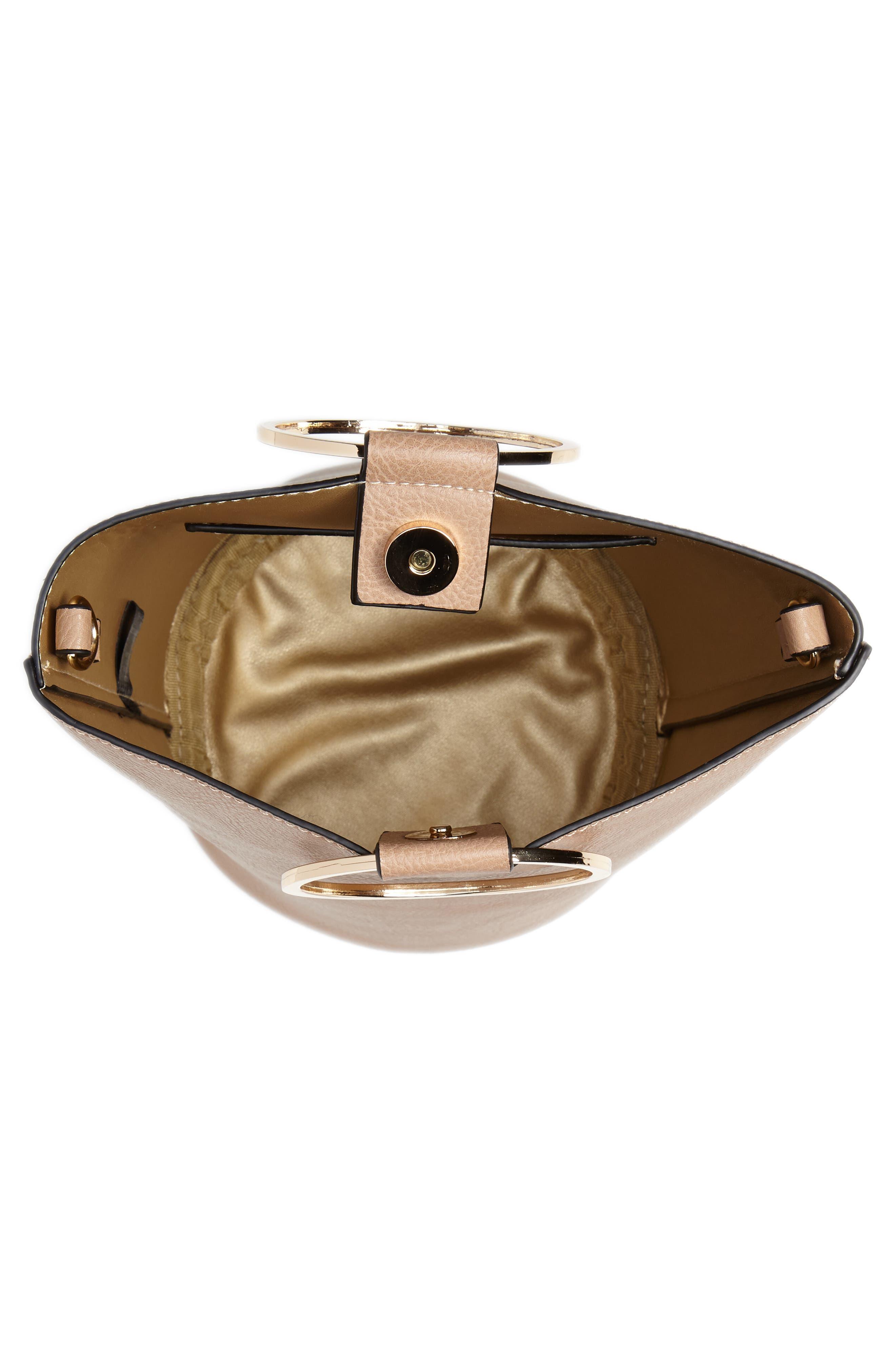 Mali + Lili Ilia Vegan Leather Ring Handle Bucket Bag,                             Alternate thumbnail 11, color,