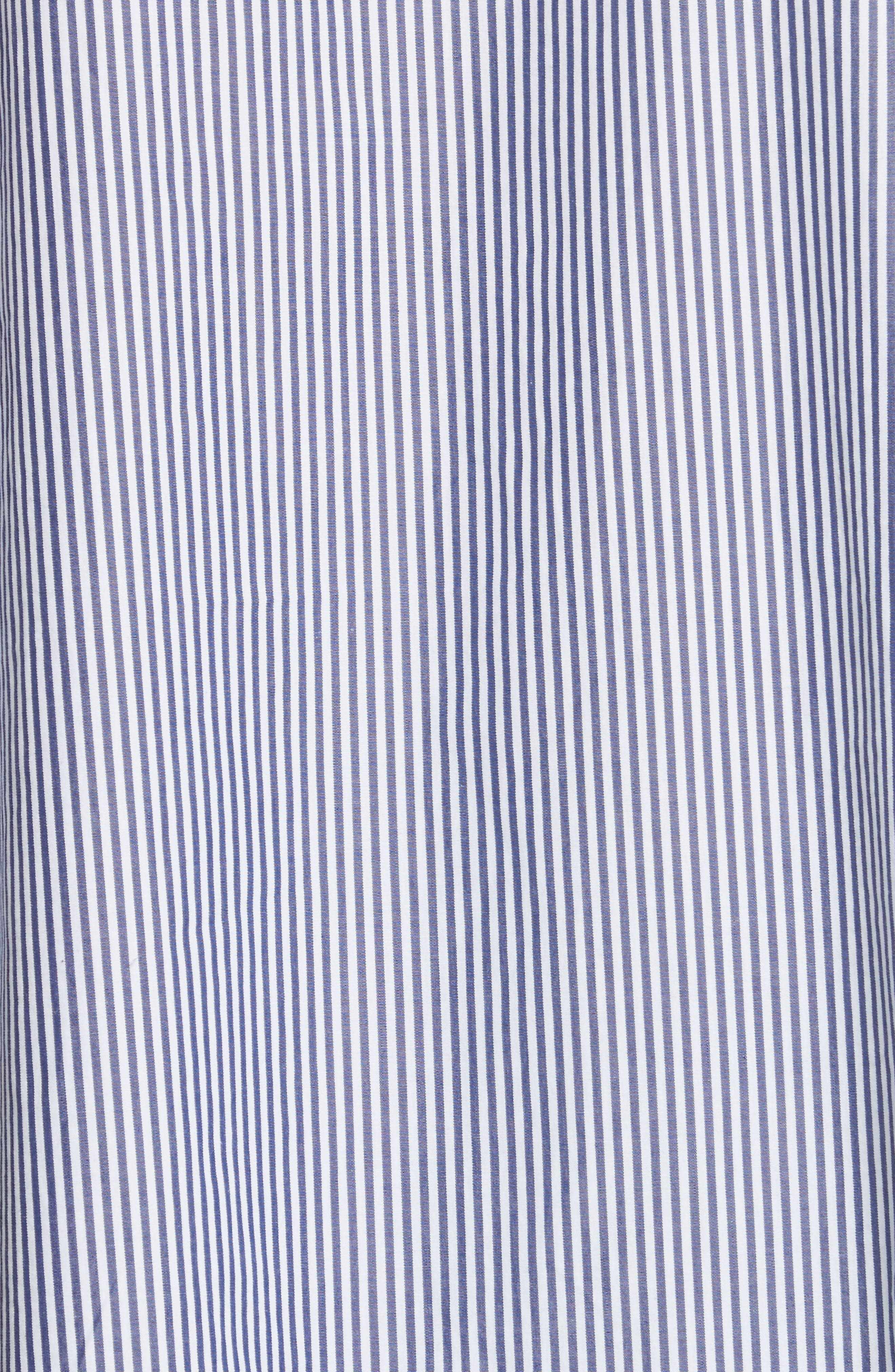 The Easy Stripe Cotton Shirt,                             Alternate thumbnail 5, color,                             400