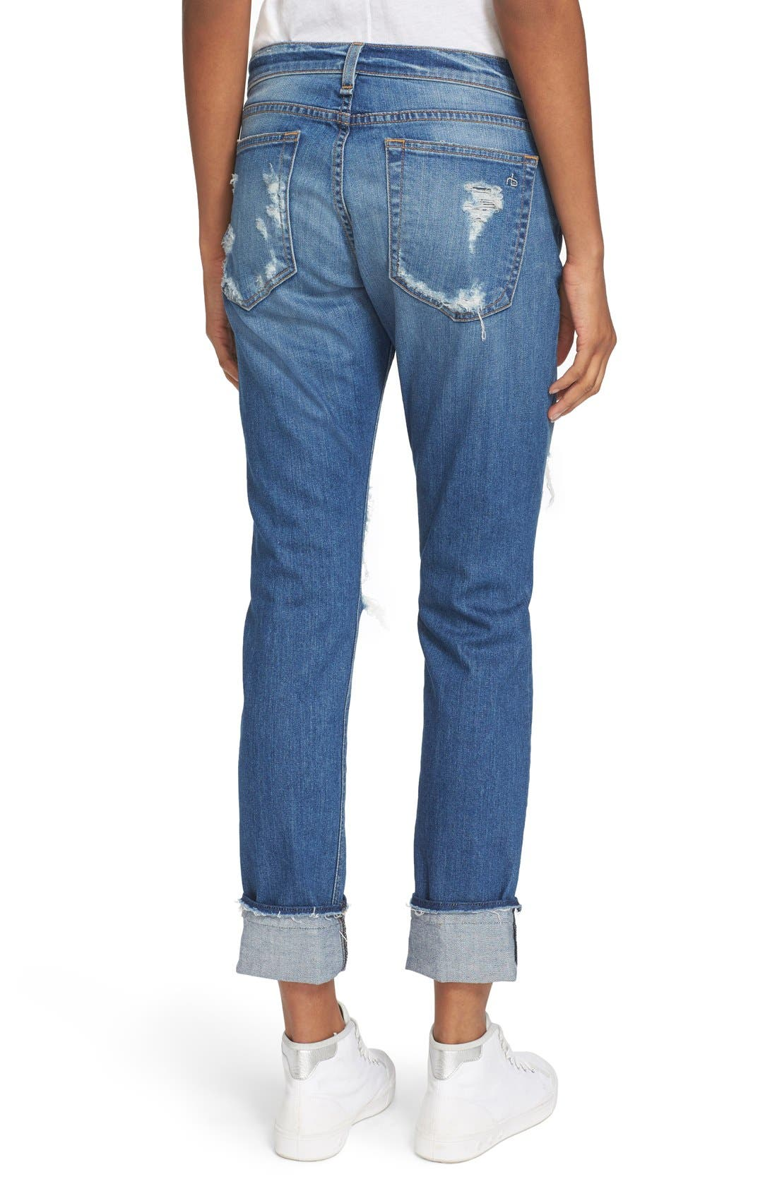 'The Dre' Slim Fit Boyfriend Jeans,                             Alternate thumbnail 5, color,                             429