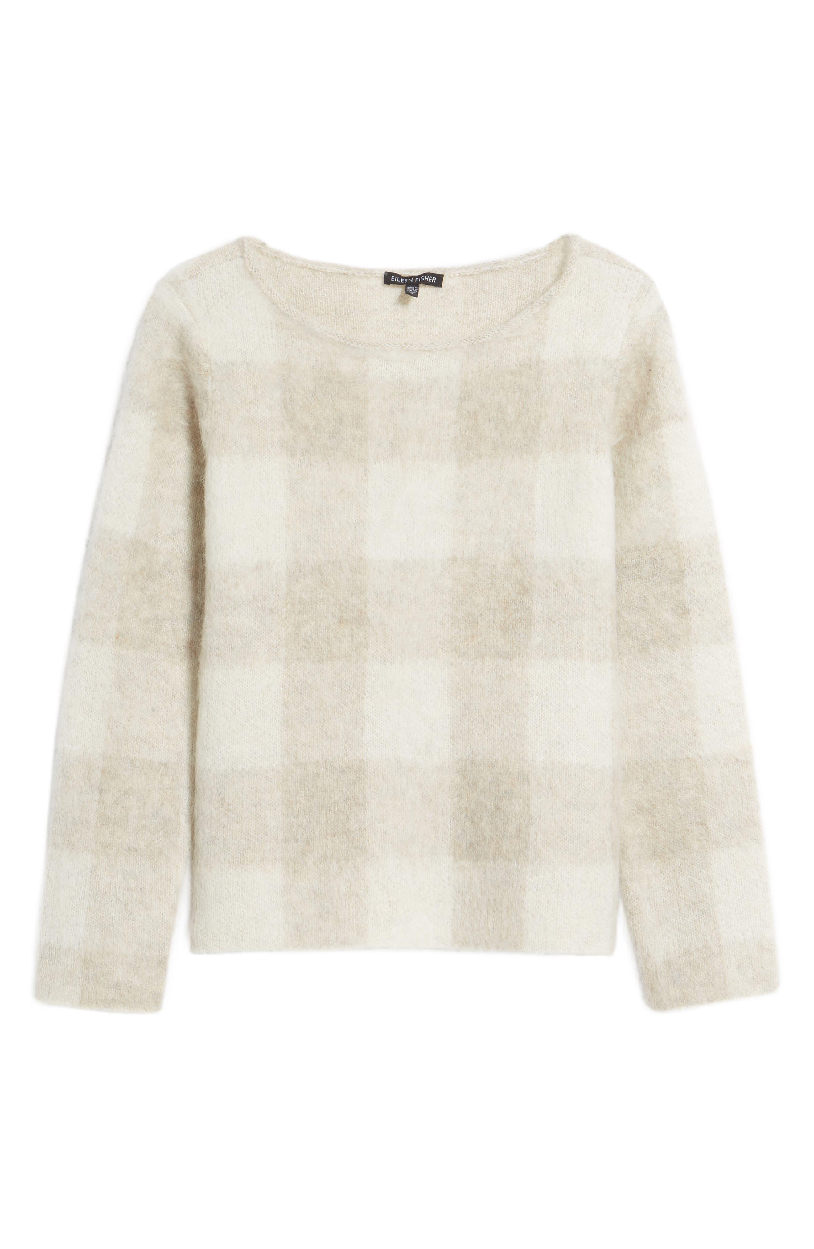Check Plaid Sweater,                             Alternate thumbnail 12, color,