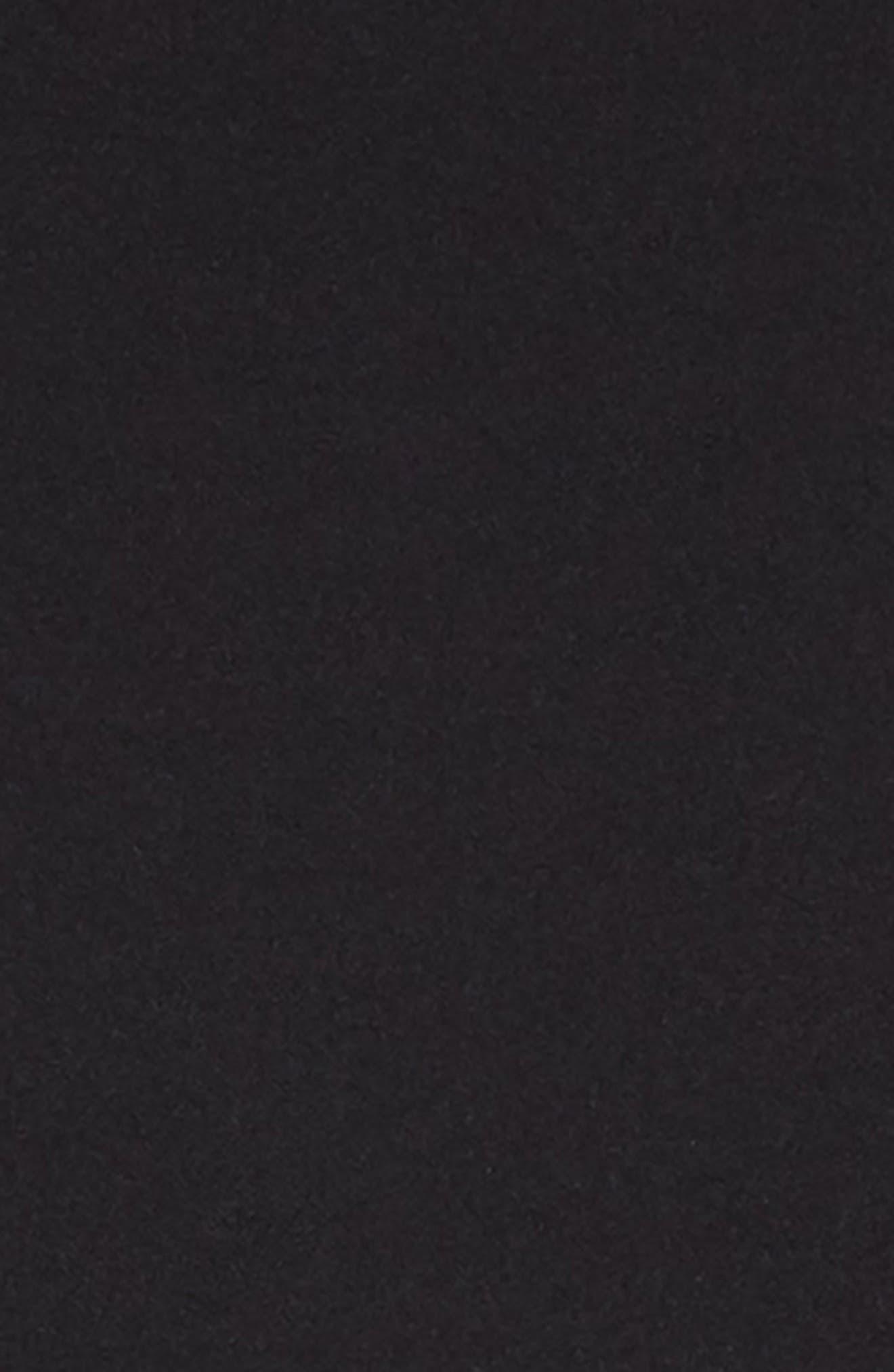 Mesh Inset Skater Dress,                             Alternate thumbnail 3, color,                             BLACK