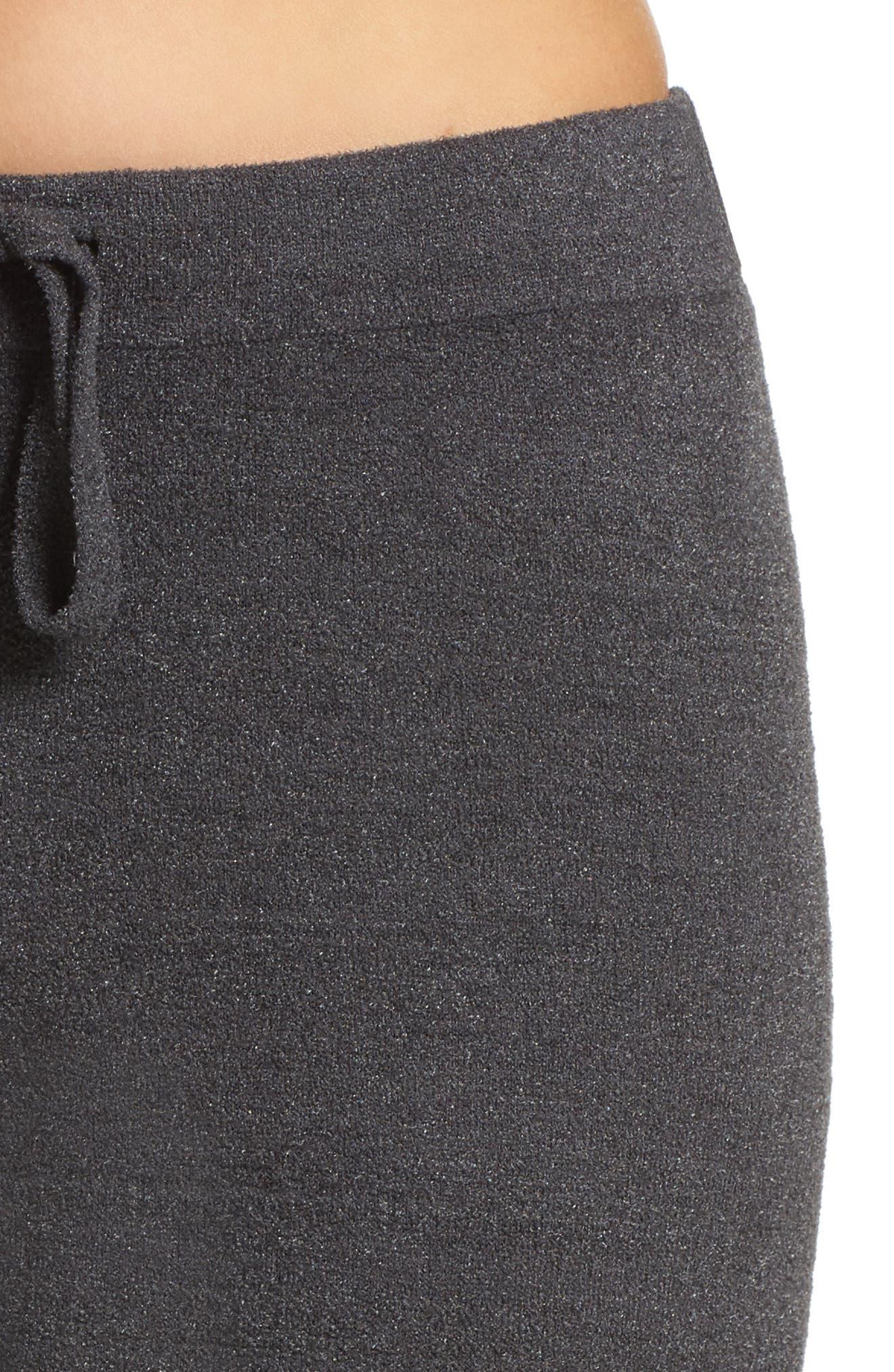 Cozychic Ultra Lite<sup>®</sup> Culotte Lounge Pants,                             Alternate thumbnail 4, color,                             CARBON