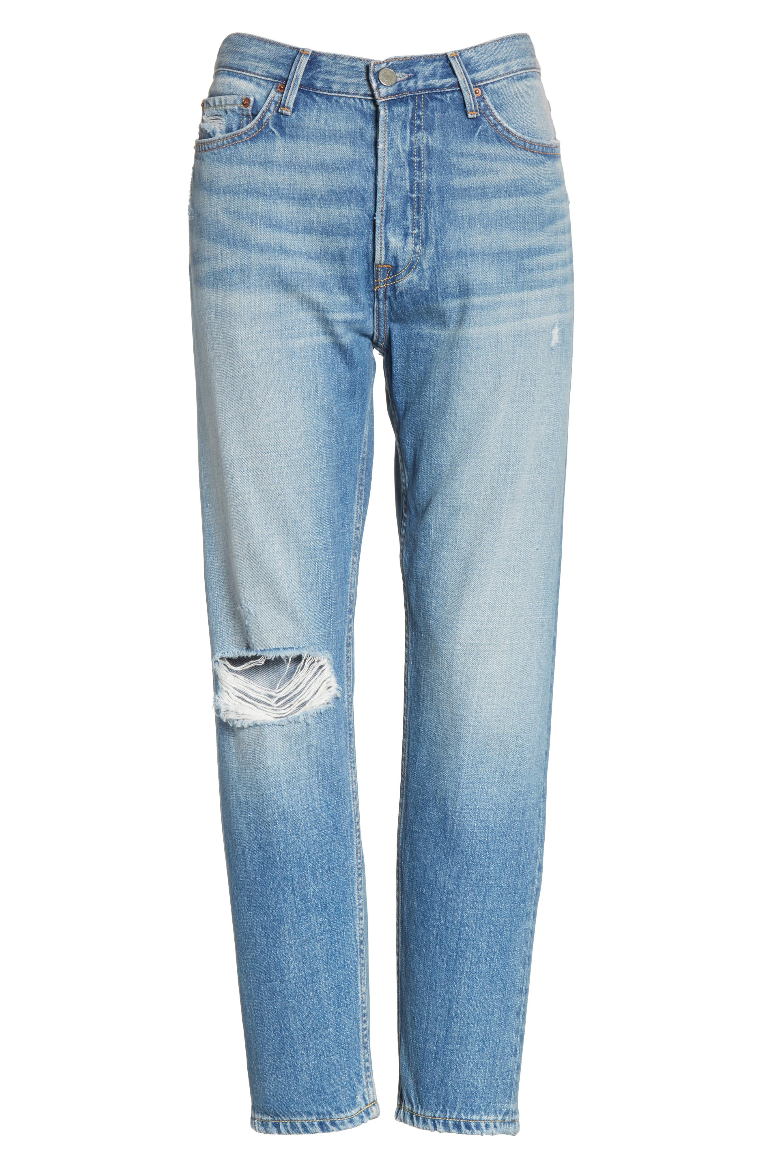 Kiara High Waist Ankle Boyfriend Jeans,                             Alternate thumbnail 7, color,                             464