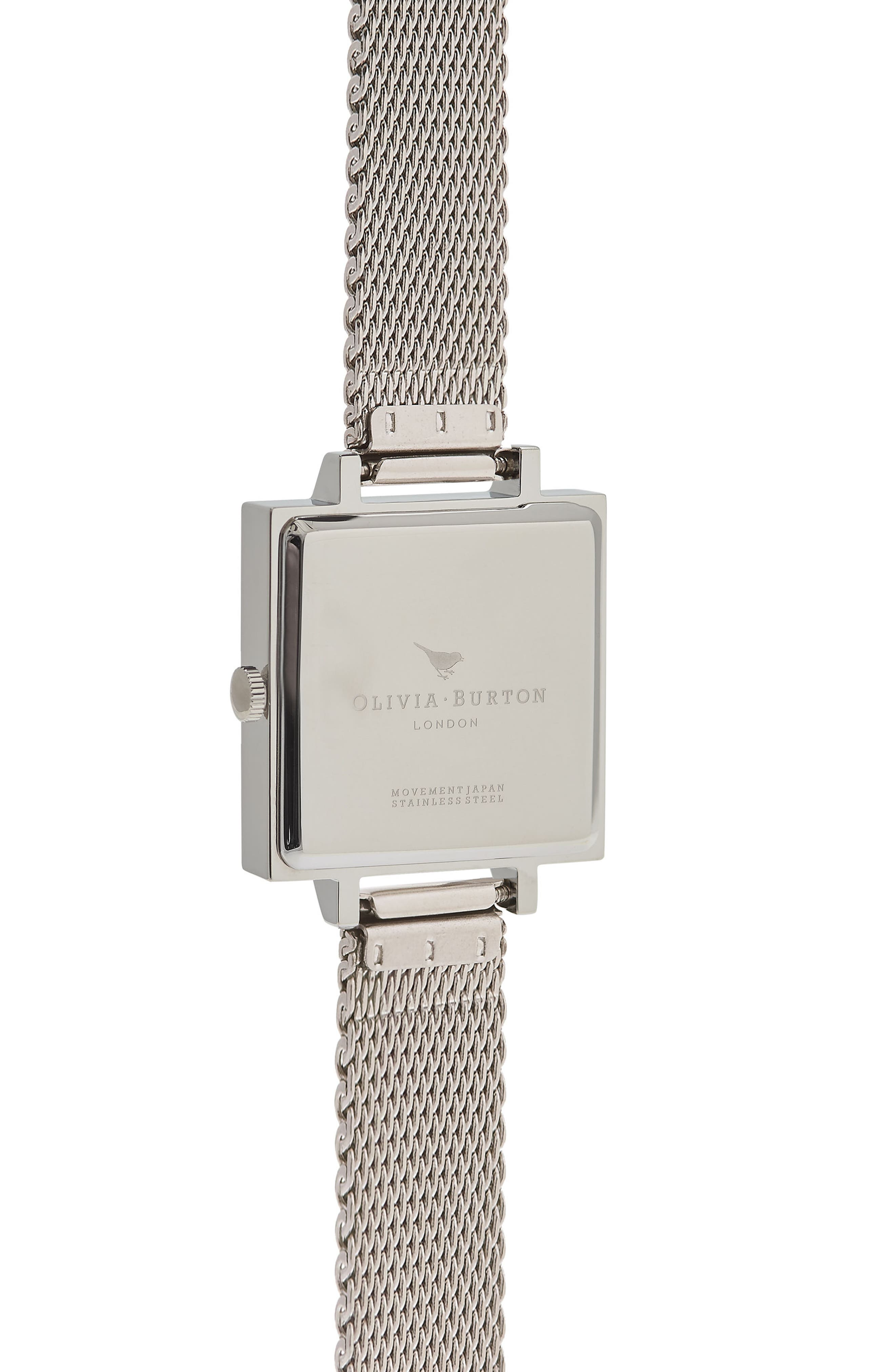 Midi Square Mesh Strap Watch, 22.5mm,                             Alternate thumbnail 2, color,                             040