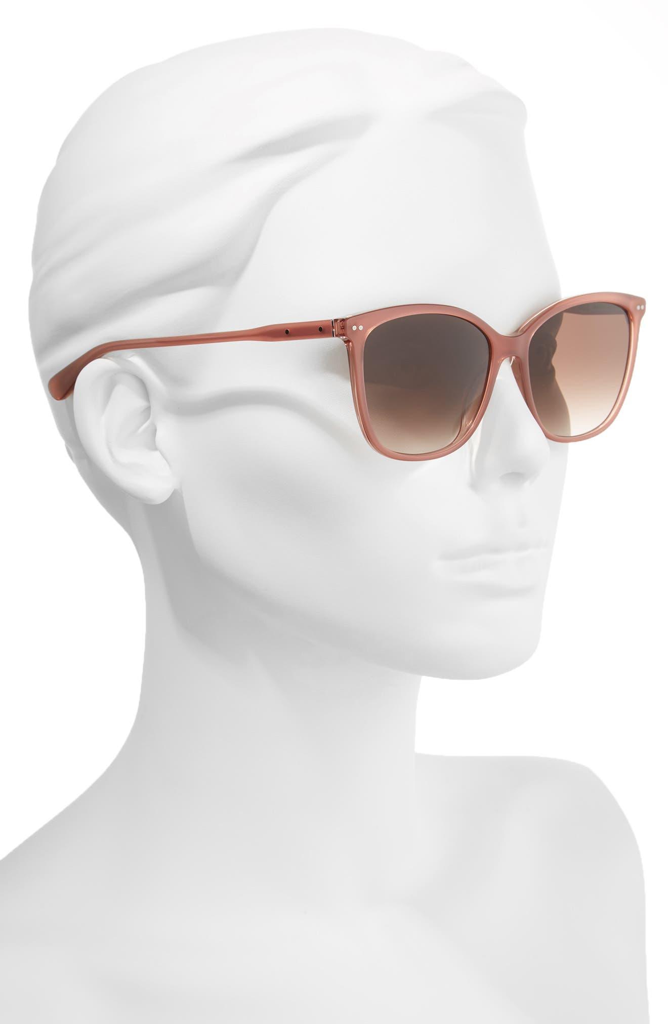The Lara 56mm Cat Eye Sunglasses,                             Alternate thumbnail 8, color,
