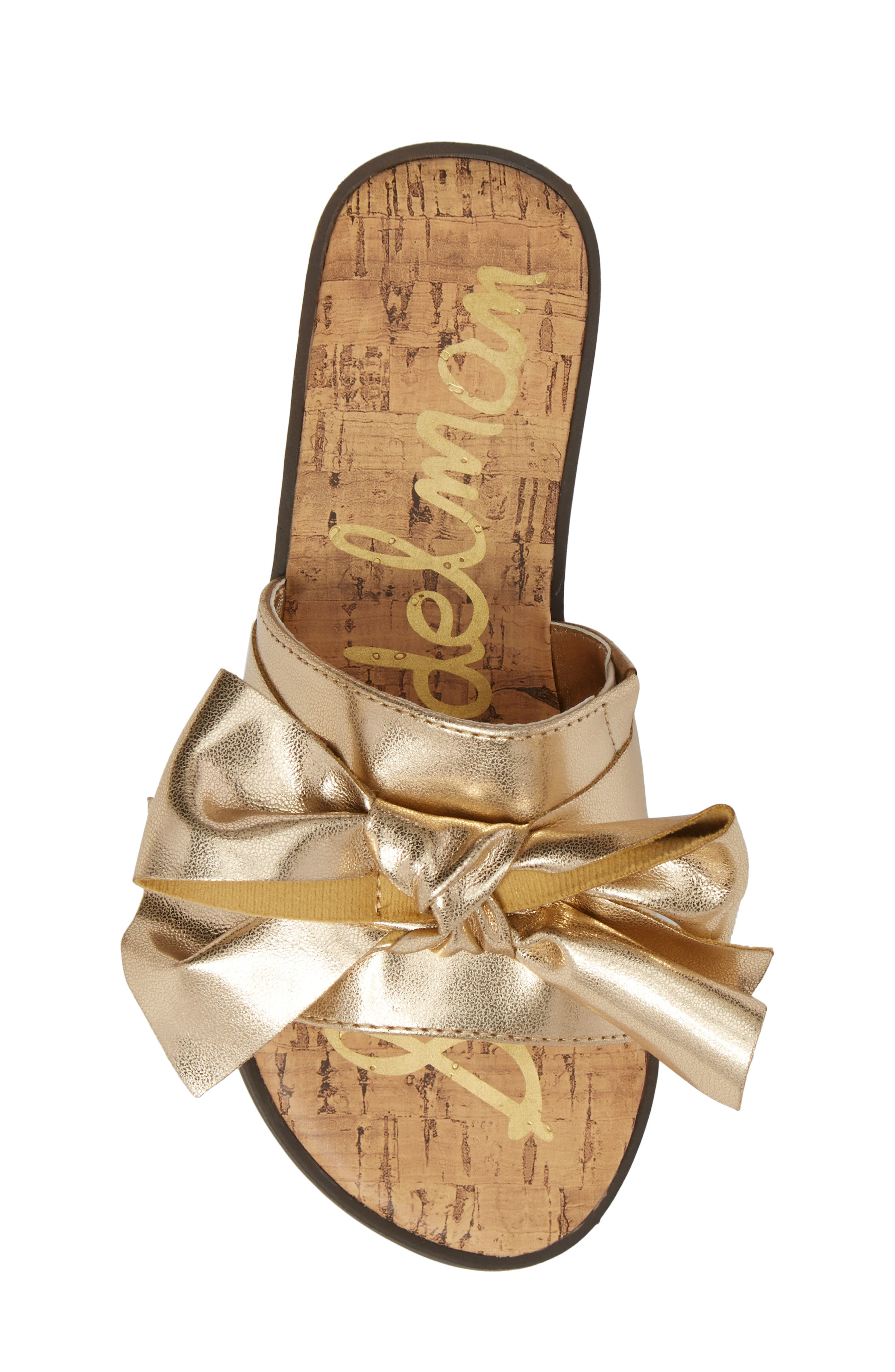 Gigi Bow Faux Leather Sandal,                             Alternate thumbnail 15, color,