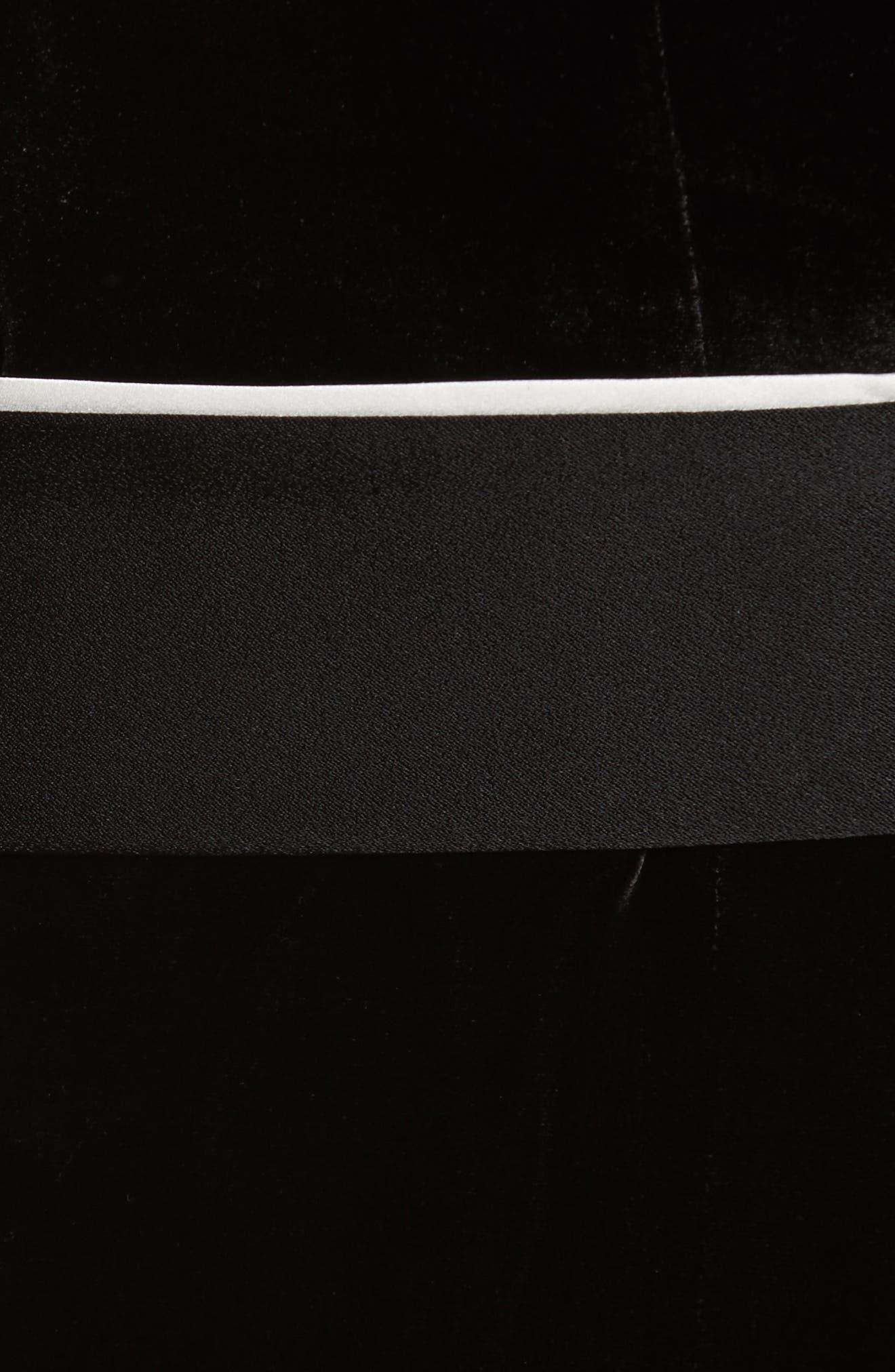 Diane Kruger x GREY Jason Wu Velvet Shirtdress,                             Alternate thumbnail 5, color,                             001