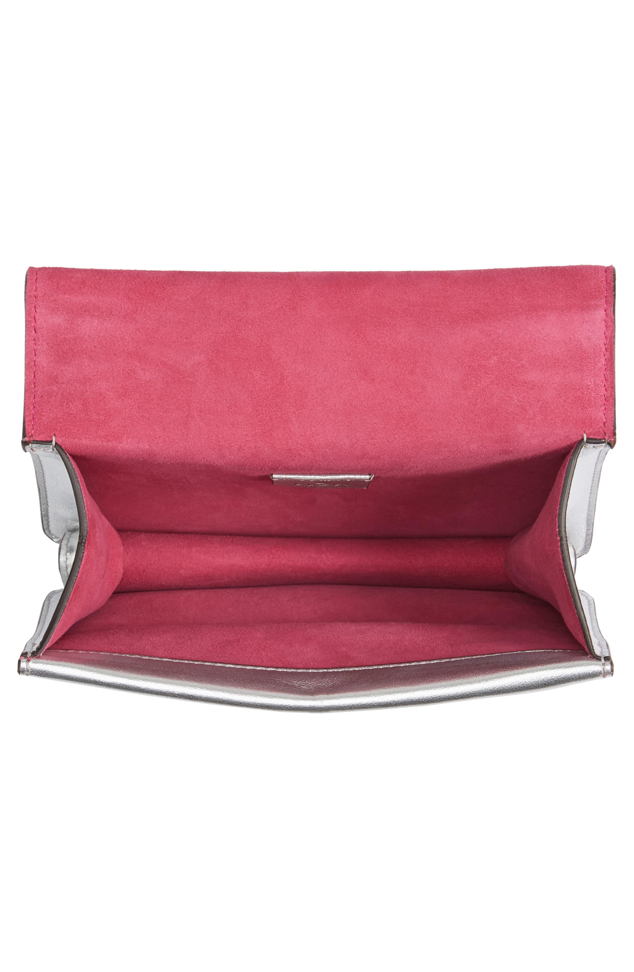 Mini Dionysus Metallic Leather Shoulder Bag,                             Alternate thumbnail 4, color,                             045