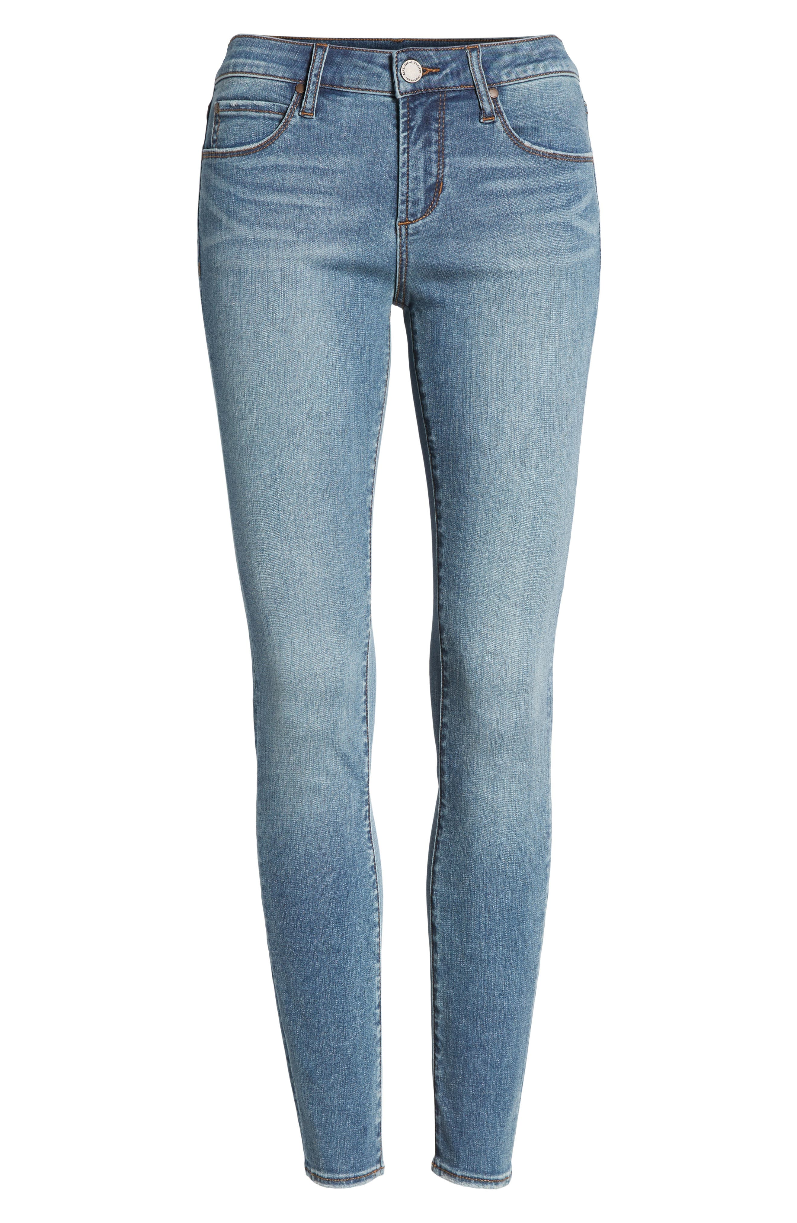 Sarah Skinny Jeans,                             Alternate thumbnail 7, color,                             400