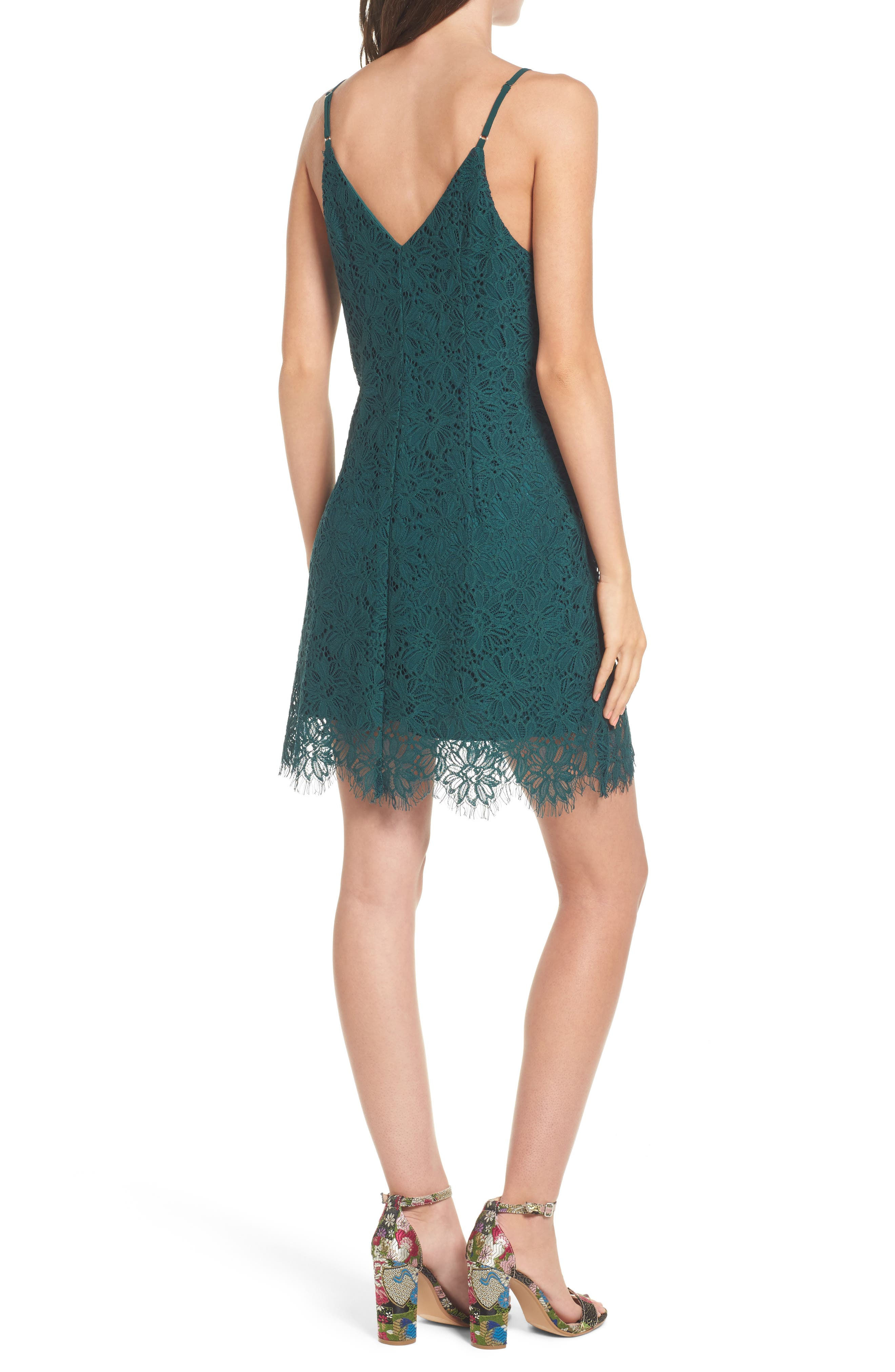 Scallop Hem Lace Slipdress,                             Alternate thumbnail 2, color,                             300