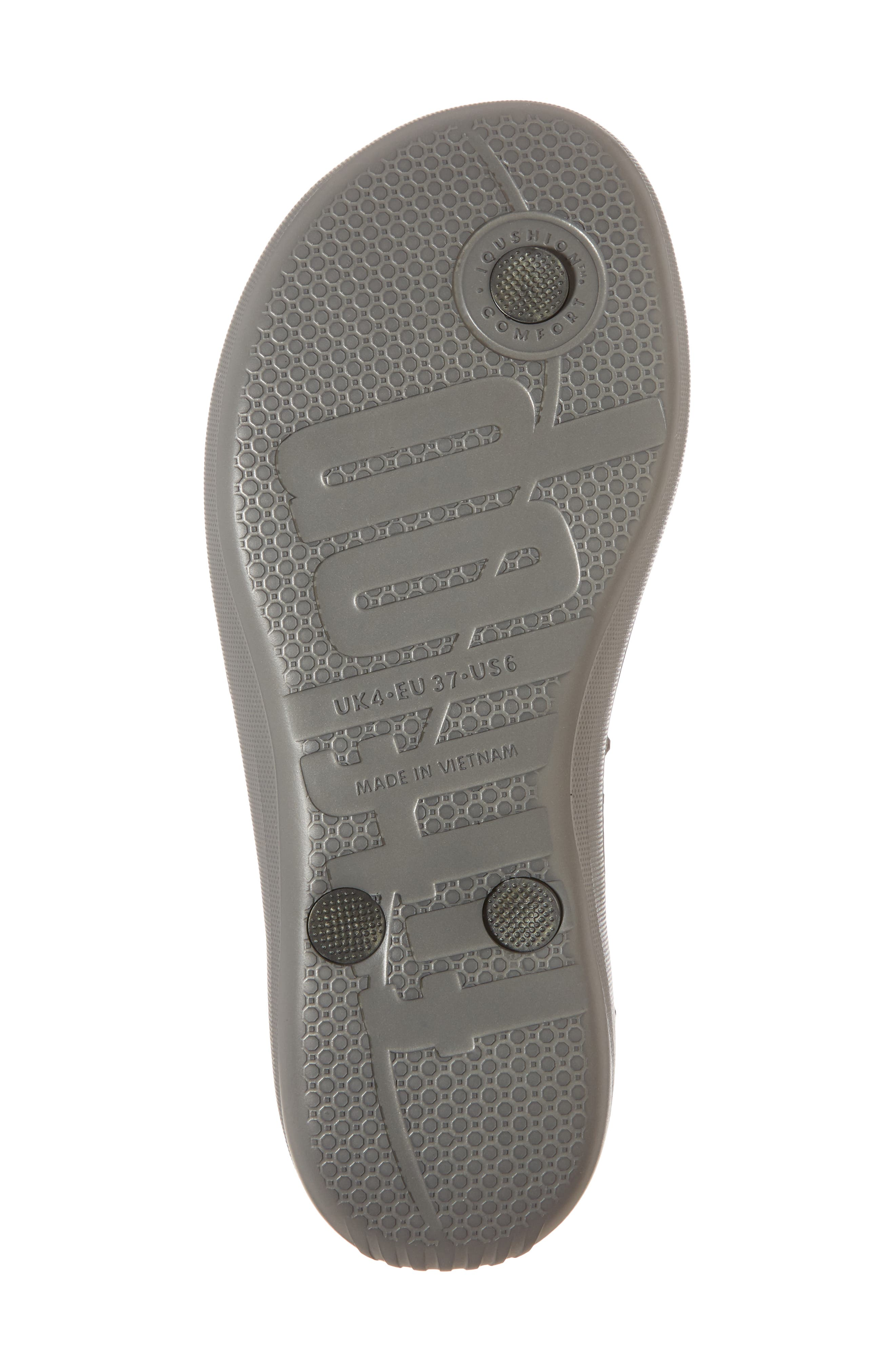 iQushion Flip Flop,                             Alternate thumbnail 6, color,                             CHARCOAL GREY