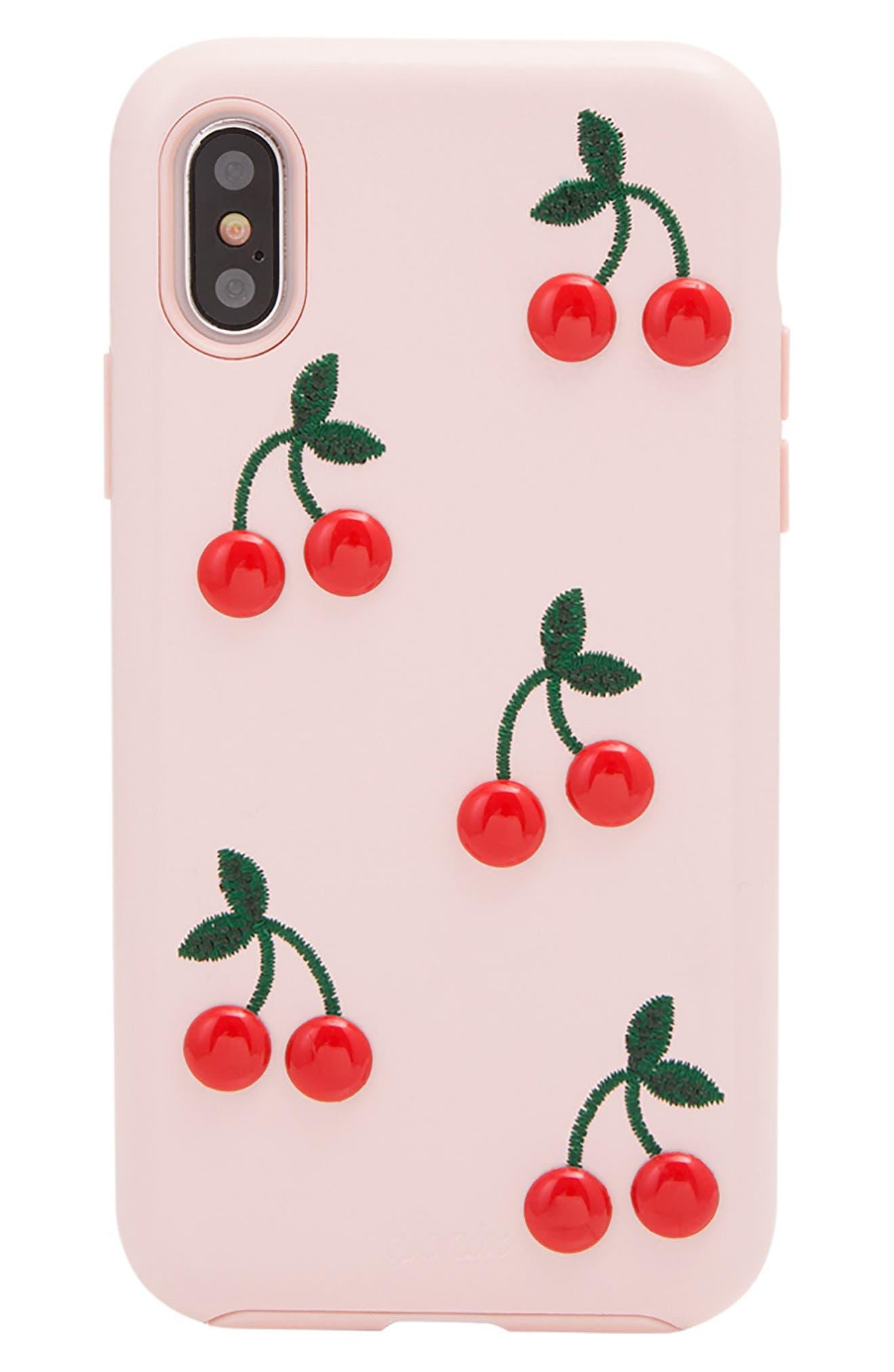 Cherry iPhone 7/8 Plus Case,                             Main thumbnail 1, color,                             650
