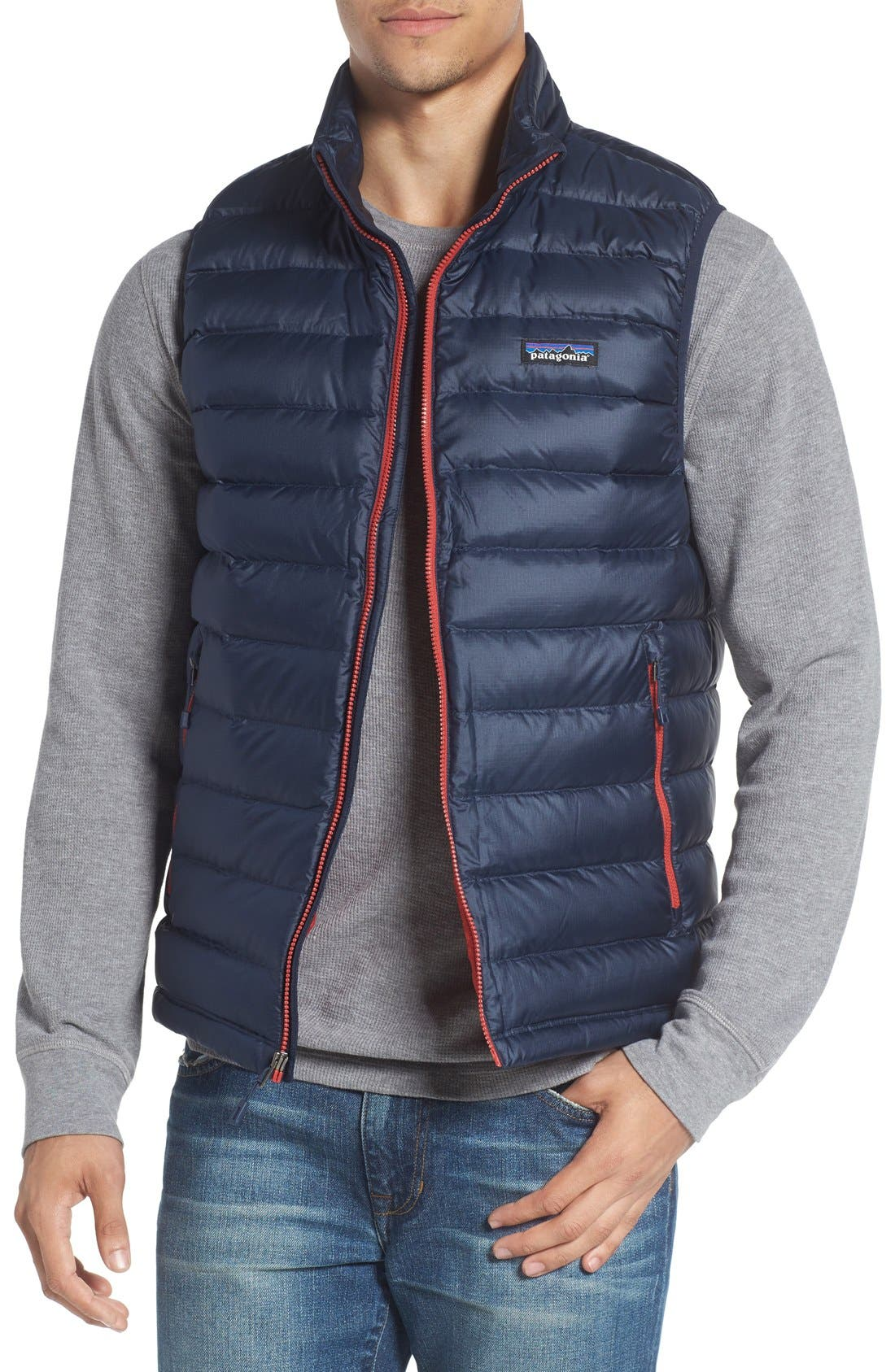 Windproof & Water Resistant 800 Fill Power Down Quilted Vest,                             Main thumbnail 9, color,