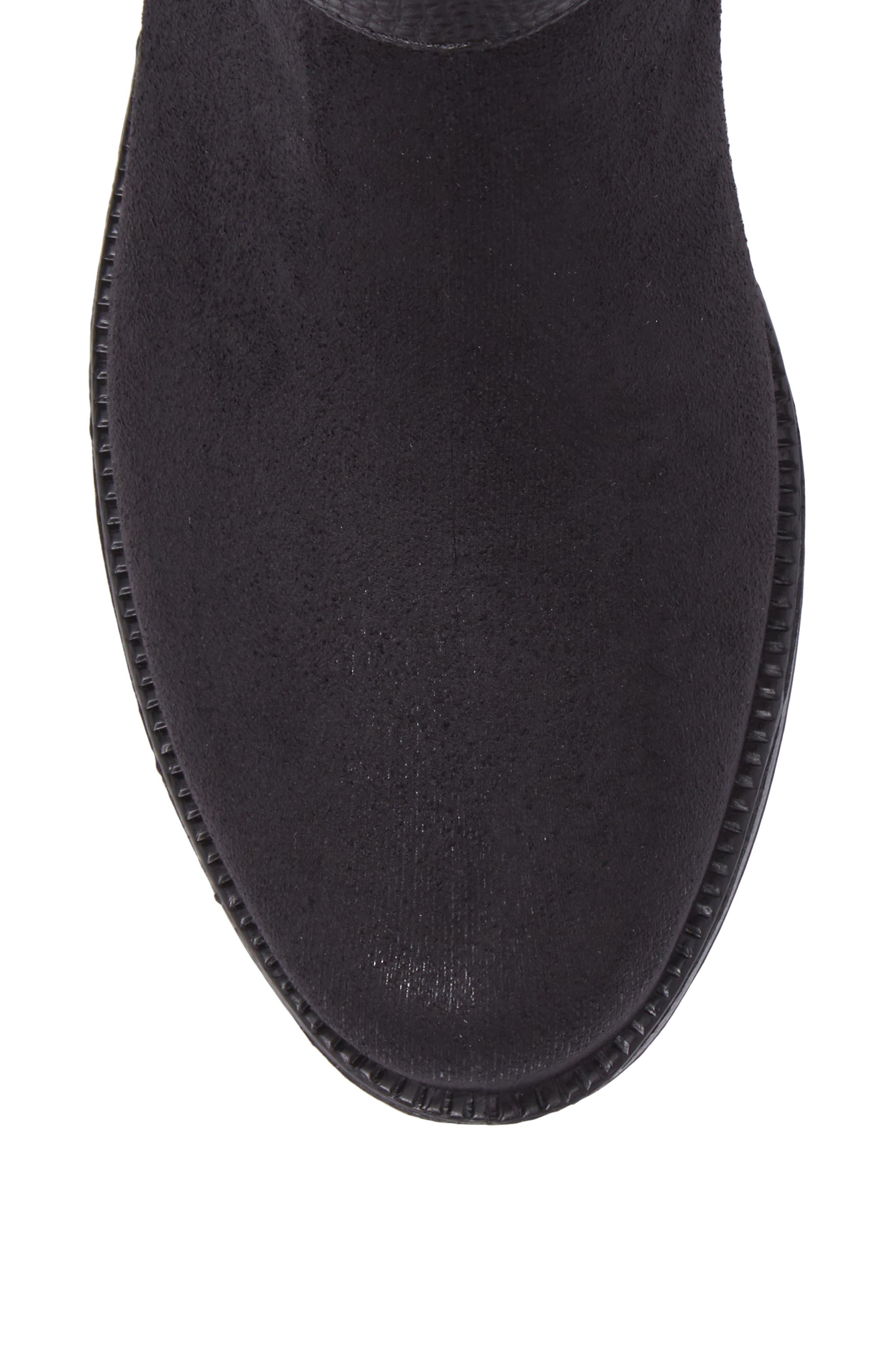 Bristol Water Resistant Boot,                             Alternate thumbnail 5, color,                             BLACK
