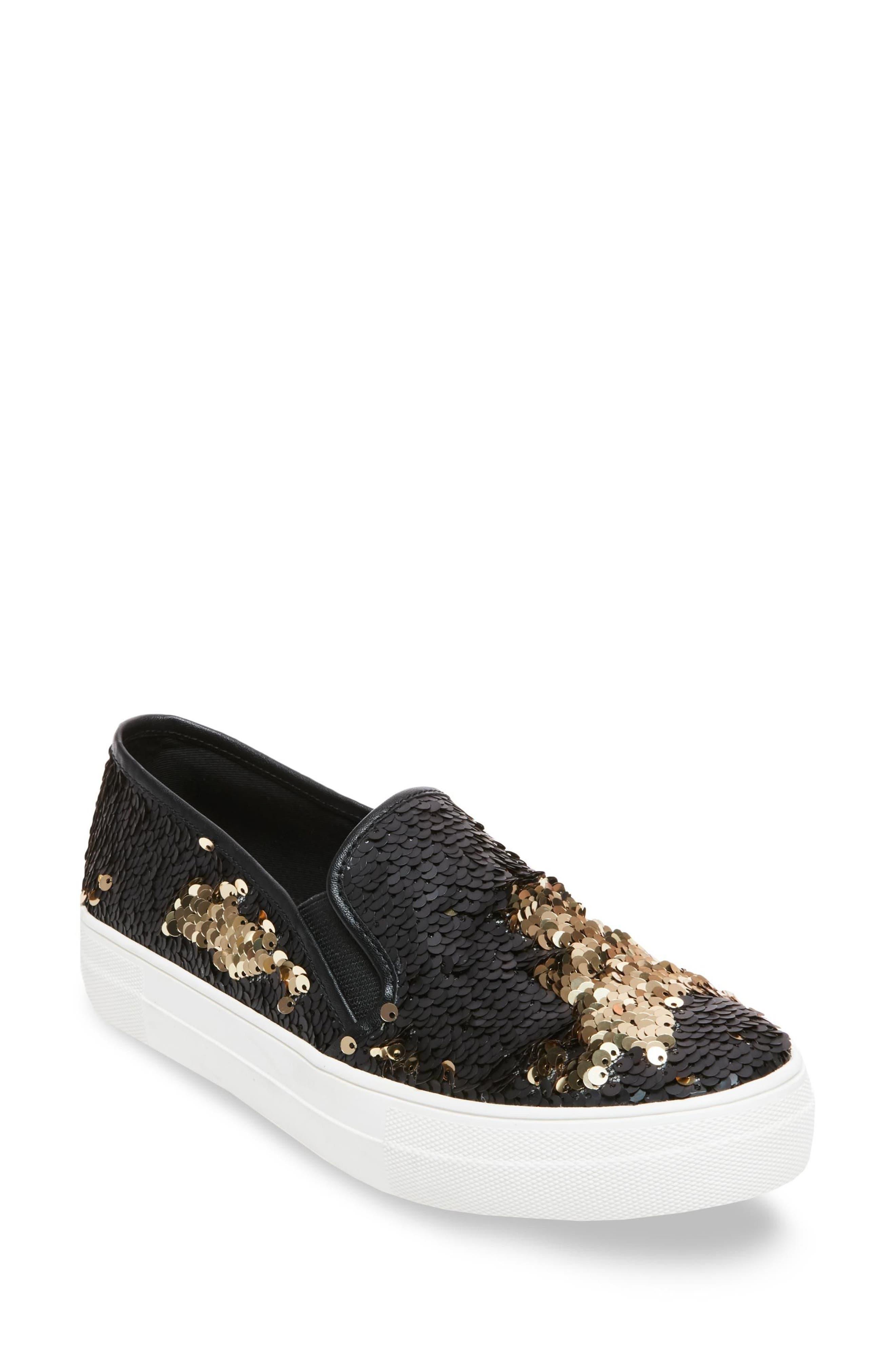 Gills Sequined Slip-On Platform Sneaker,                         Main,                         color, 001