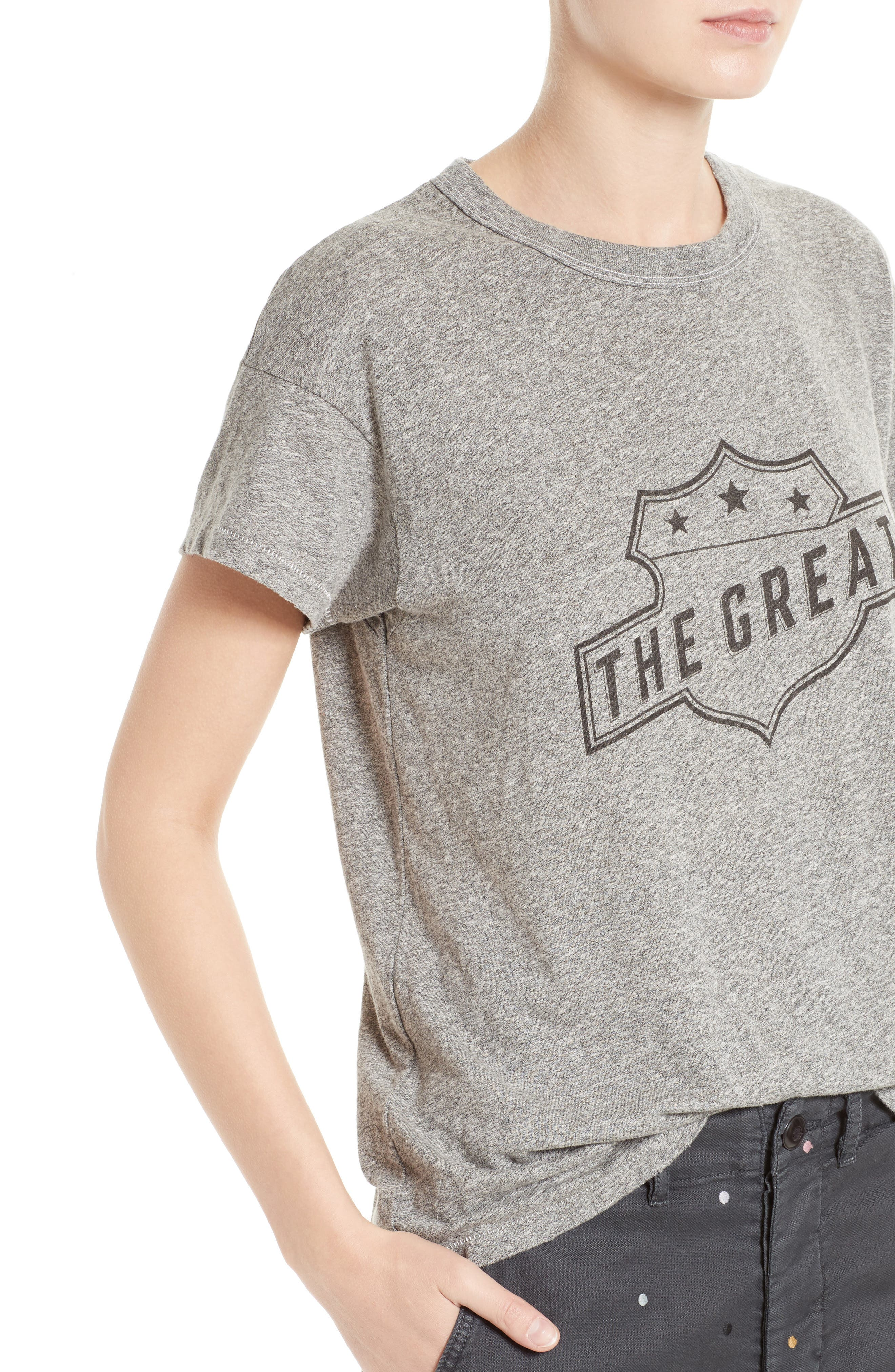 The Boxy Crew Tee,                             Alternate thumbnail 4, color,                             020