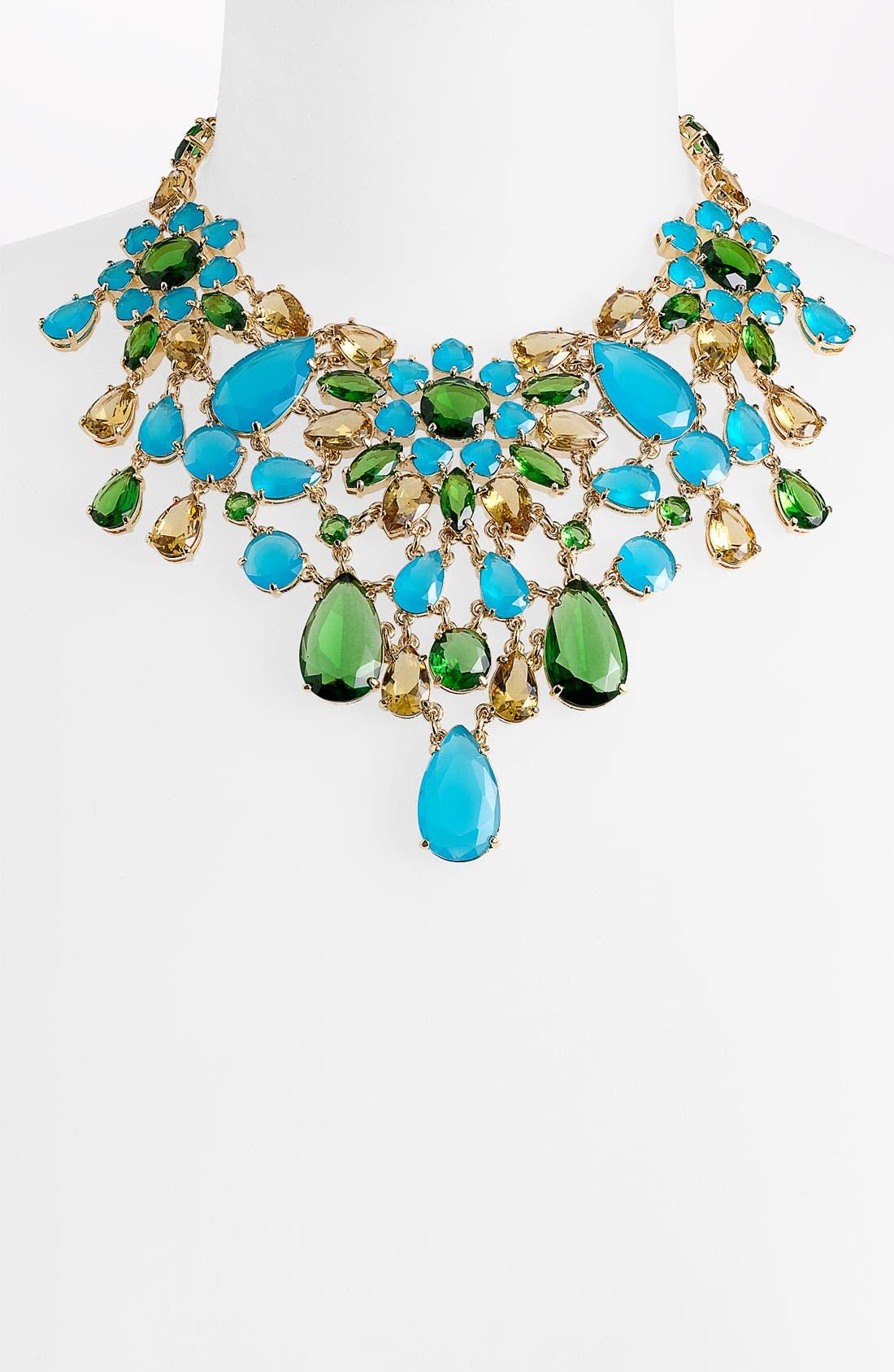 'solarium' bib statement necklace,                             Main thumbnail 1, color,                             440