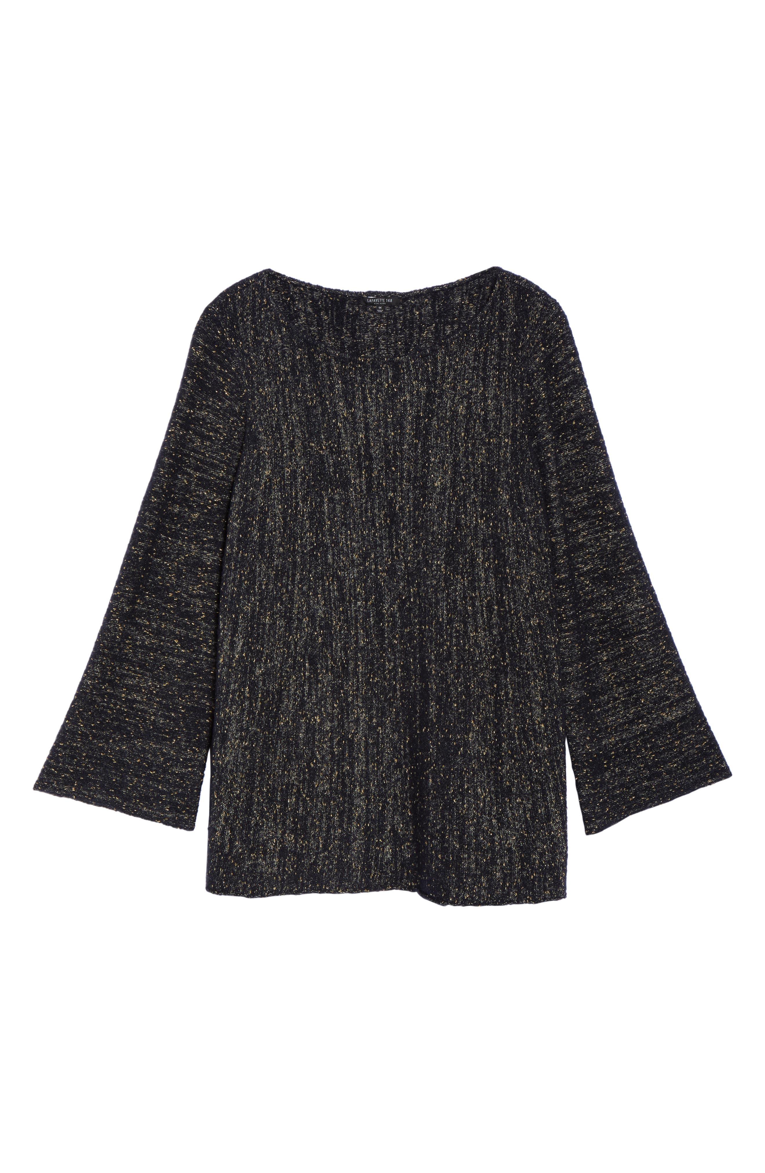 Lafayette 148 Metallic Knit A-Line Sweater,                             Alternate thumbnail 6, color,                             479
