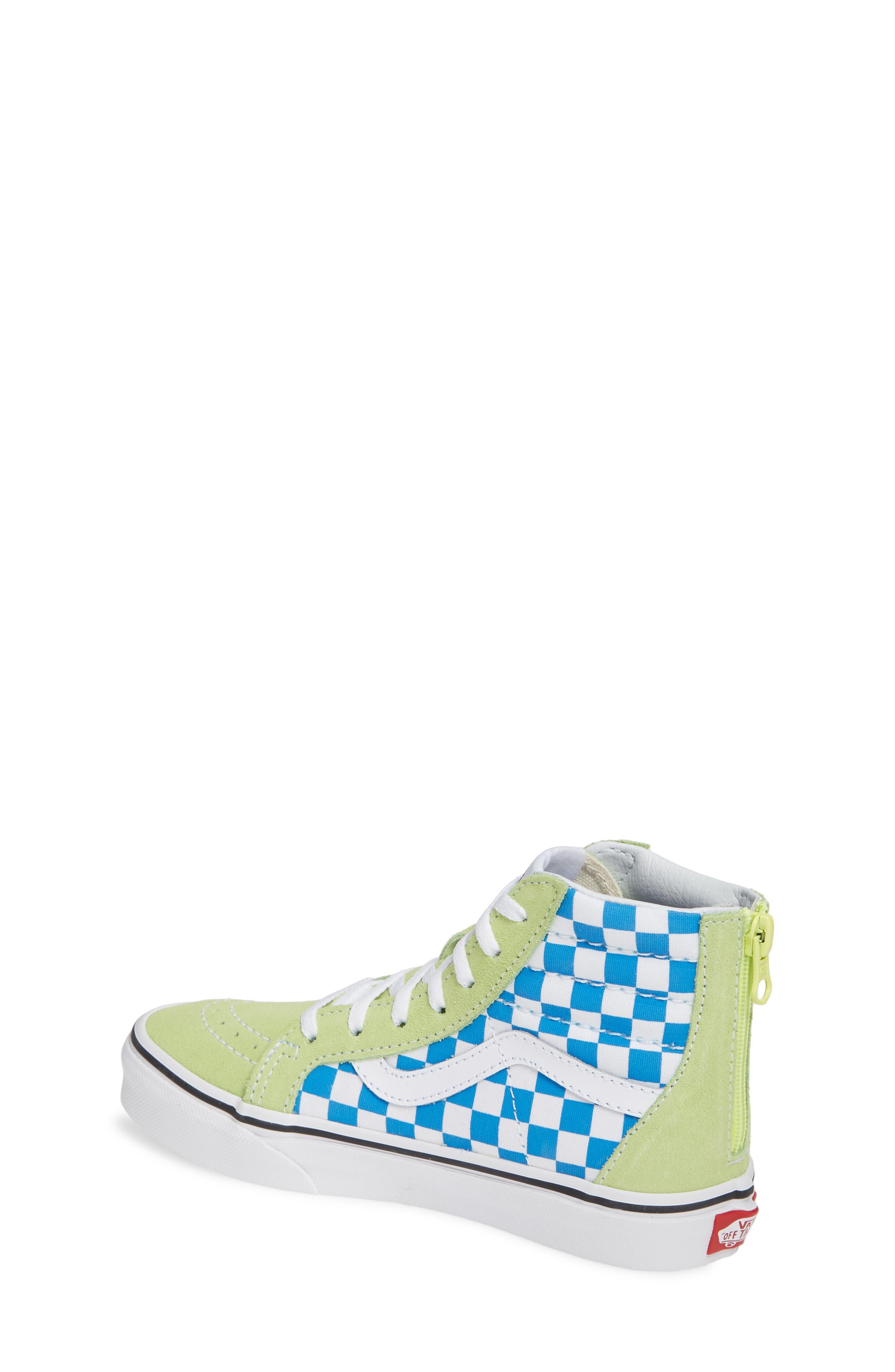 'Sk8-Hi' Sneaker,                             Alternate thumbnail 2, color,                             SHARP GREEN/ PINK LEMONADE