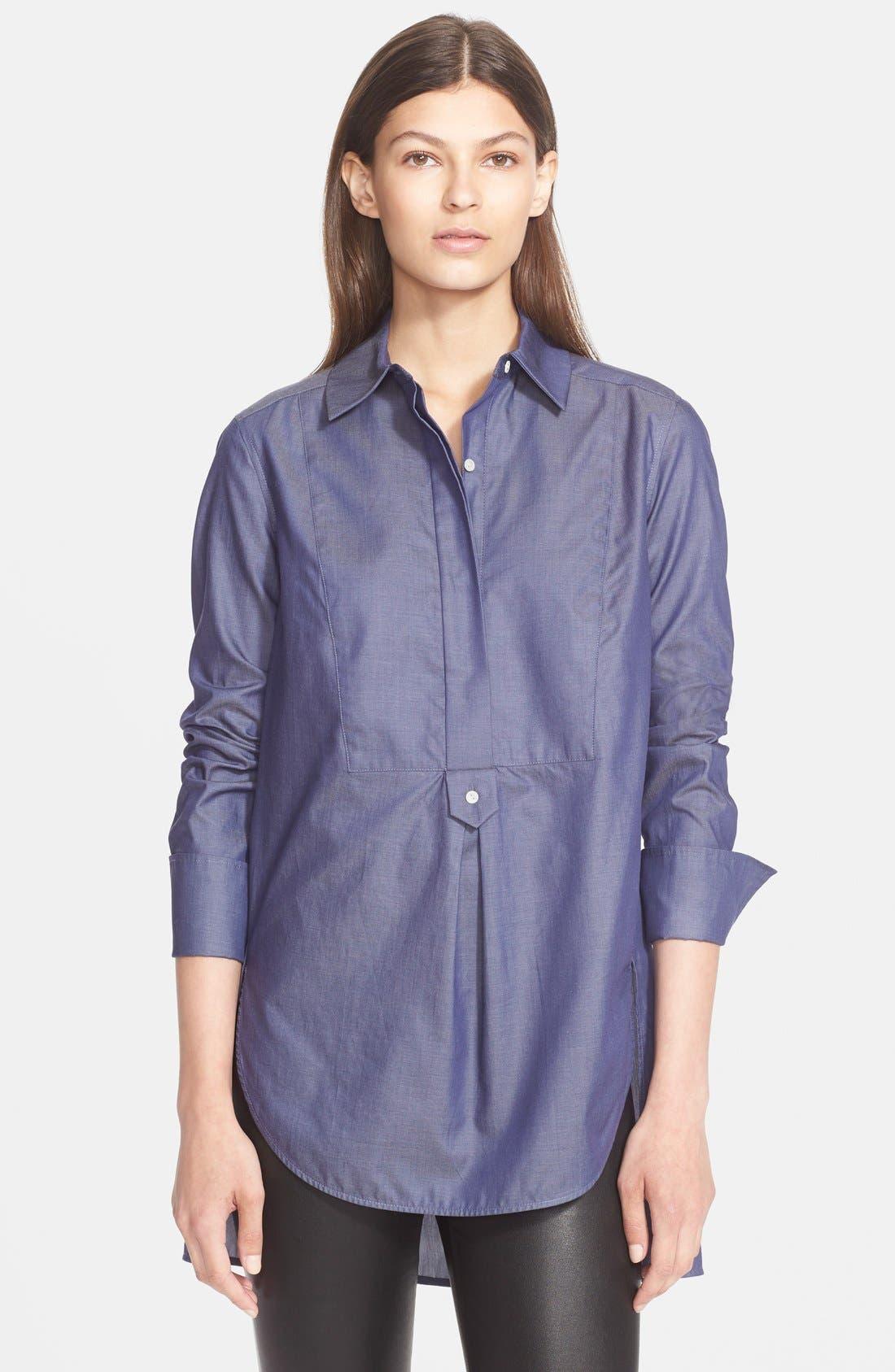 Herringbone Tuxedo Inset Shirt,                         Main,                         color, 466