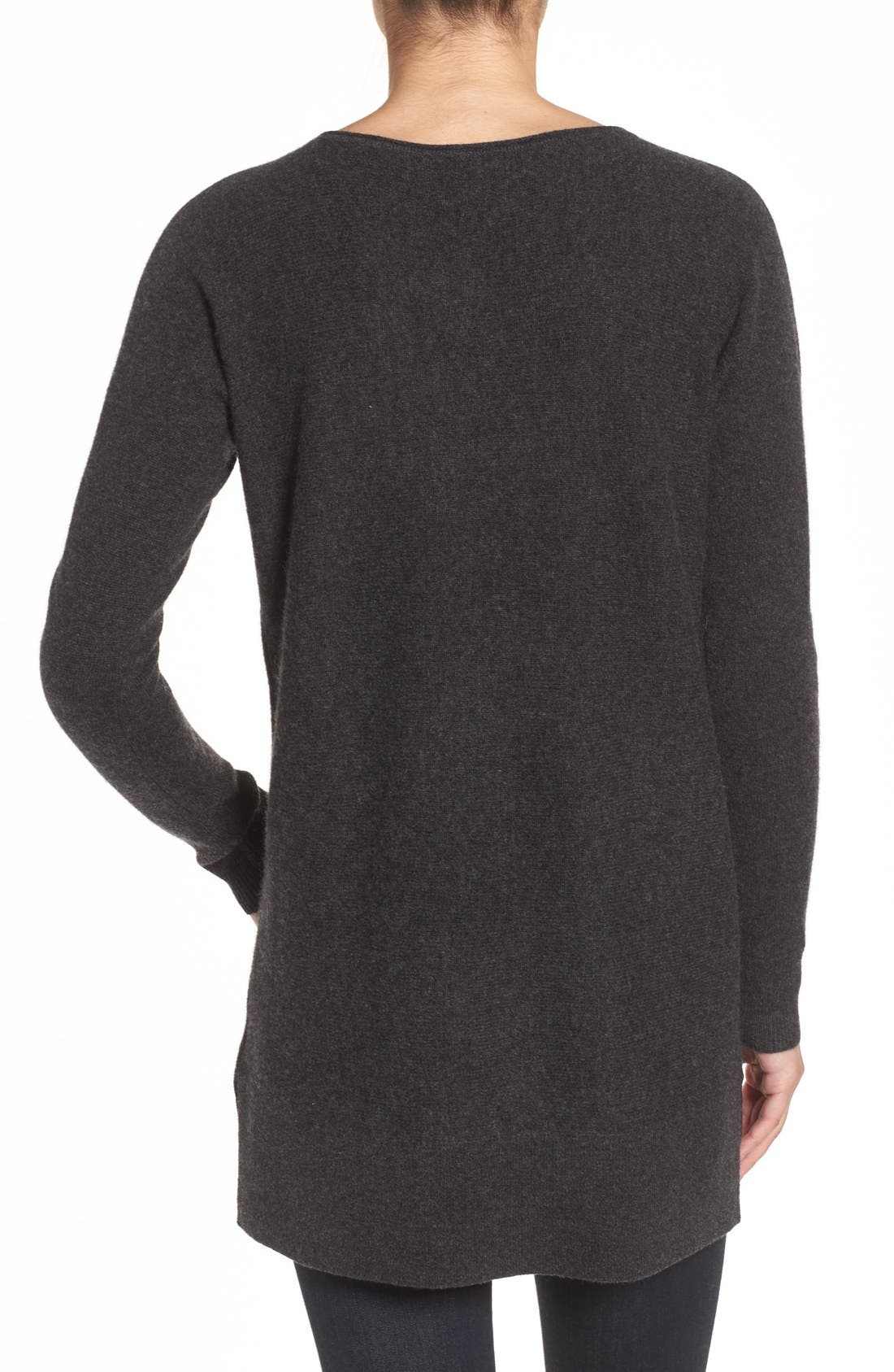 High/Low Wool & Cashmere Tunic Sweater,                             Alternate thumbnail 20, color,