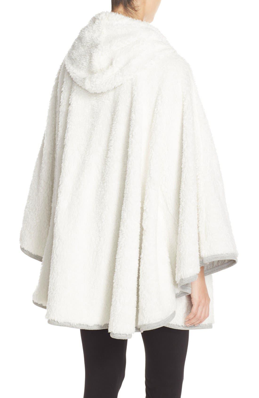 Hooded Fleece Poncho,                             Alternate thumbnail 2, color,                             020