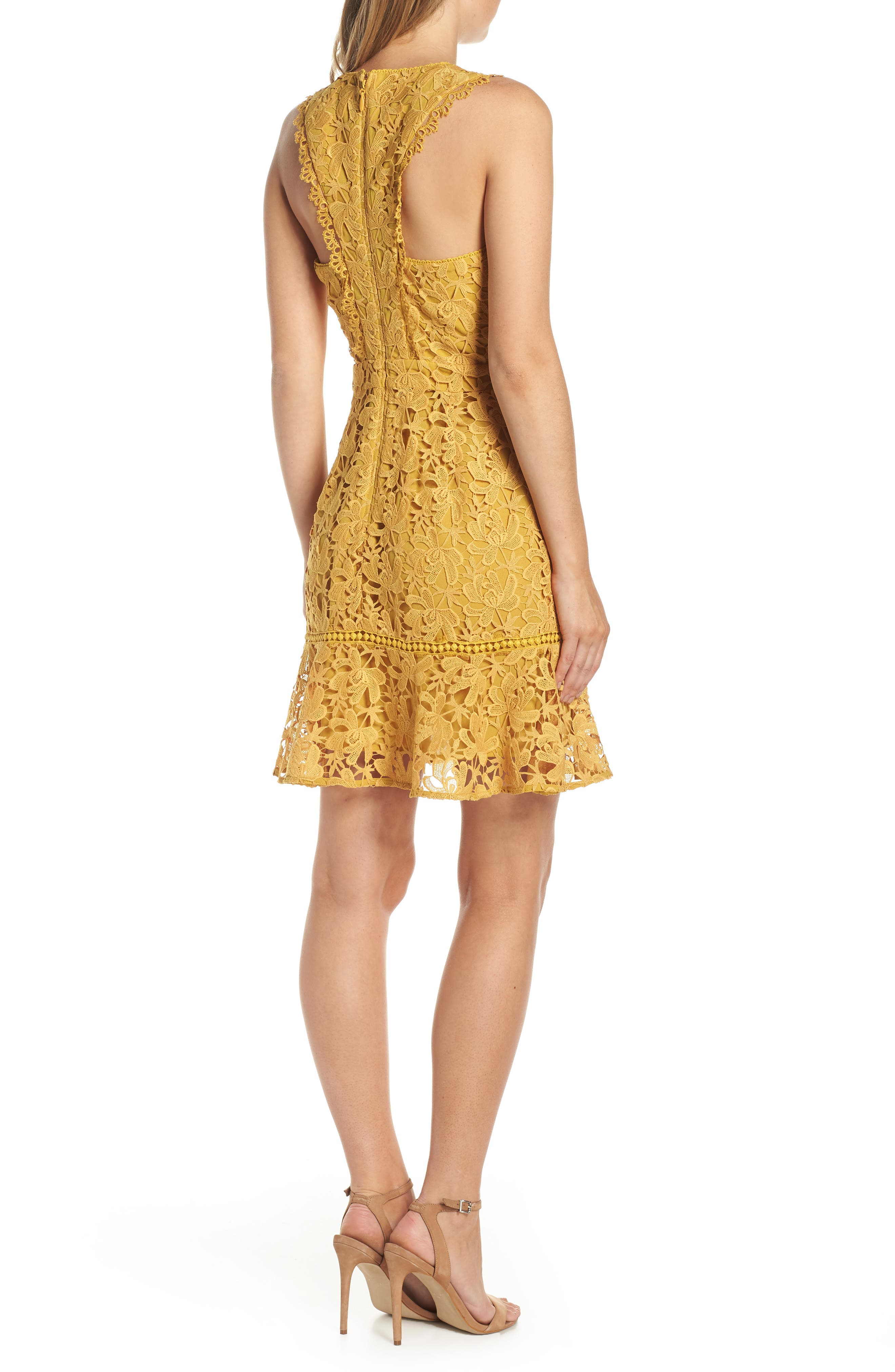 ADELYN RAE,                             Jessie Crisscross Neck Lace Dress,                             Alternate thumbnail 2, color,                             FREESIA
