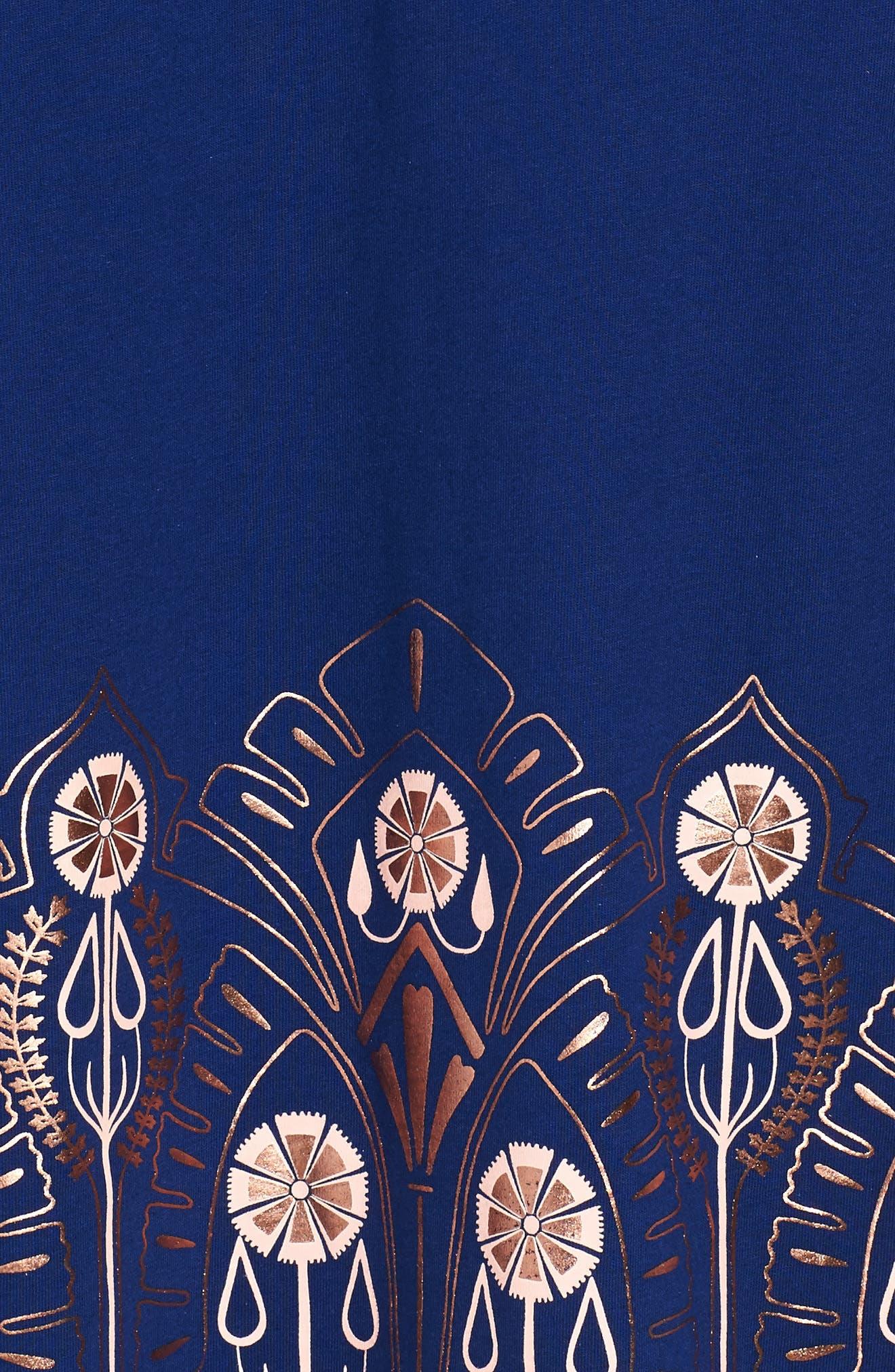 Merchant City Print Wrap Neck Dress,                             Alternate thumbnail 3, color,                             400