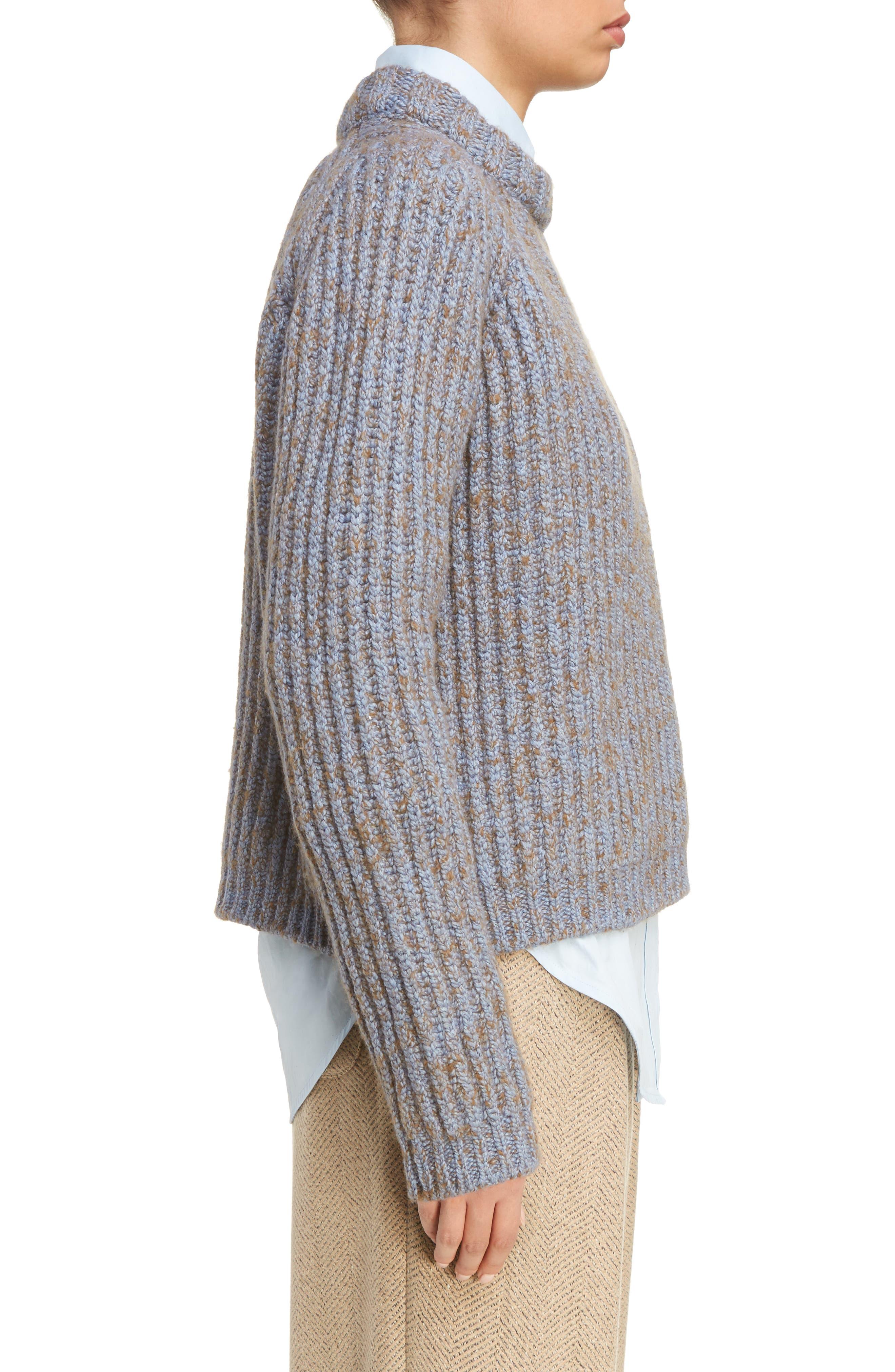 Sandy Mouline Cable Knit Sweater,                             Alternate thumbnail 3, color,                             400