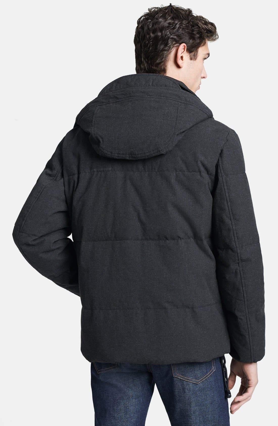 Quilted Down Jacket,                             Alternate thumbnail 3, color,                             021
