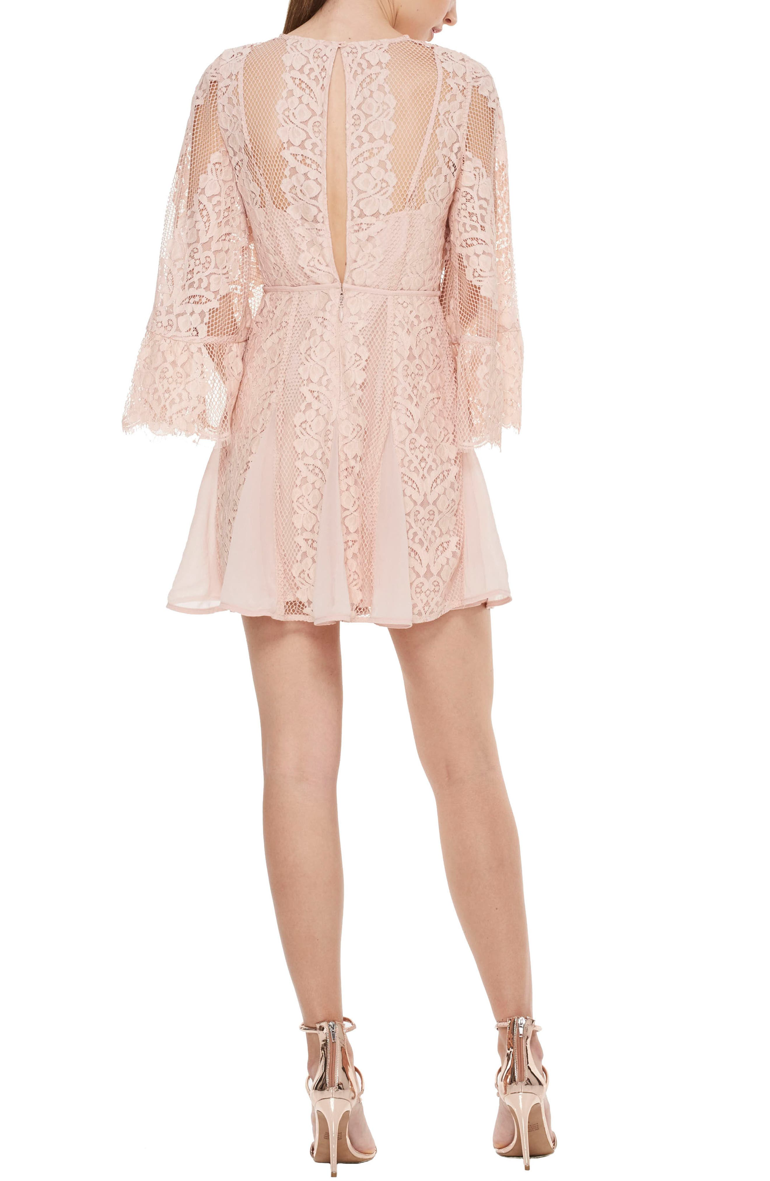 Lust Over Bell Sleeve Lace Dress,                             Alternate thumbnail 2, color,                             662