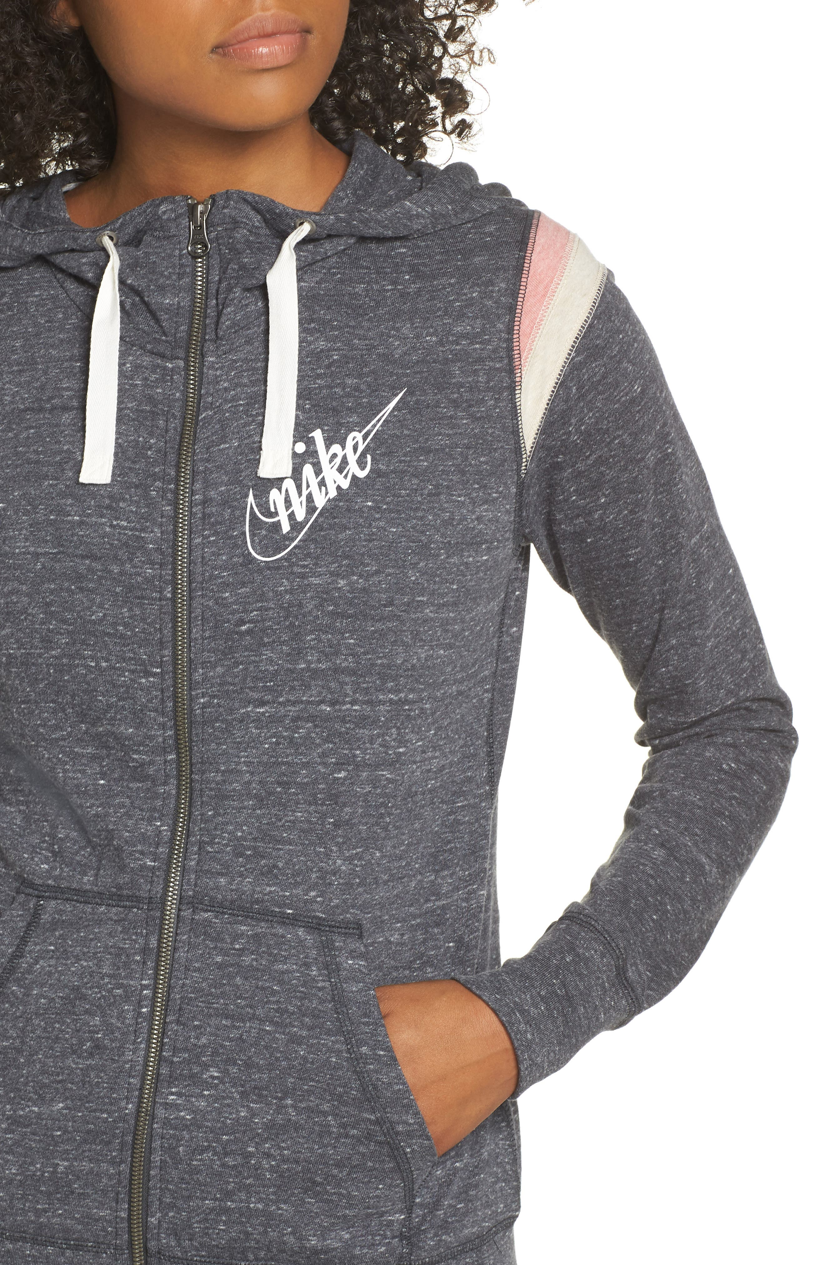 Sportswear Gym Vintage Zip Hoodie,                             Alternate thumbnail 4, color,                             060