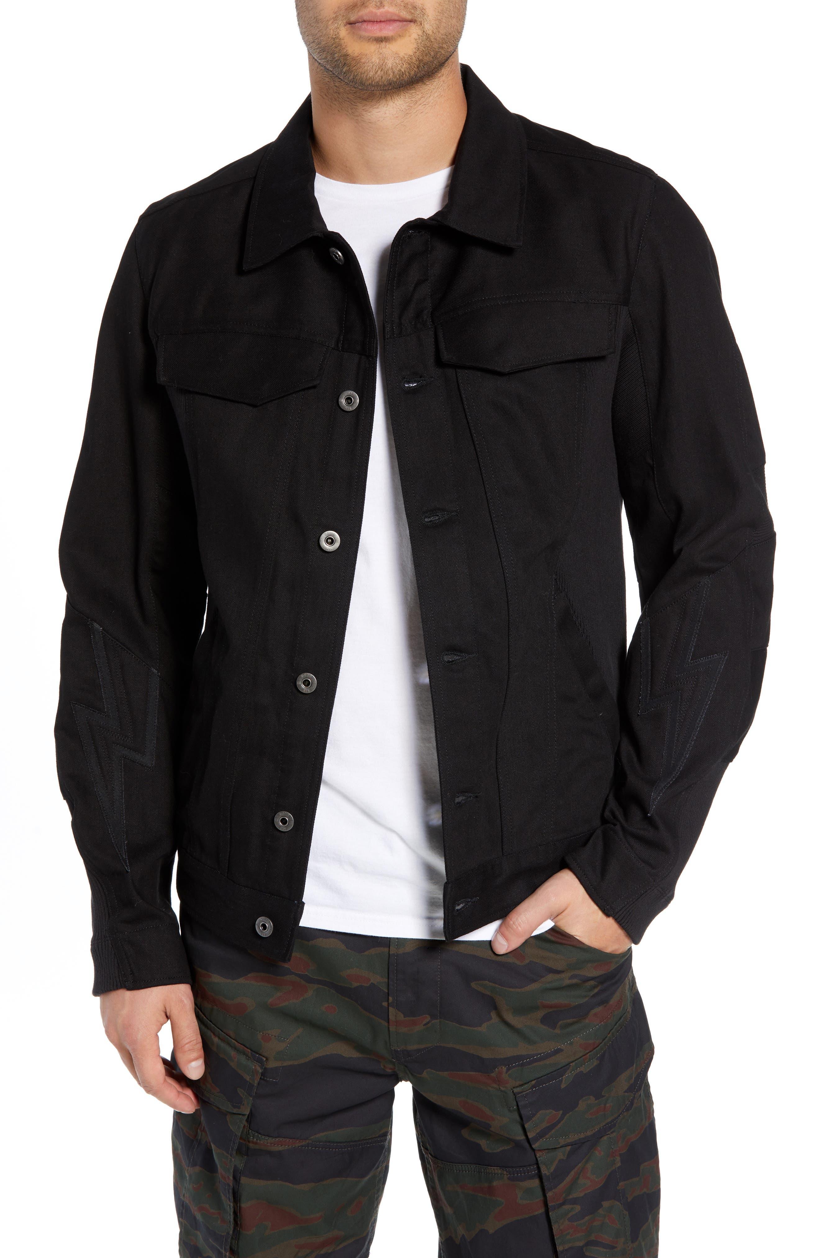 Motac-X Moto Uni Slim Cotton Denim Jacket,                             Main thumbnail 1, color,                             RAW DENIM