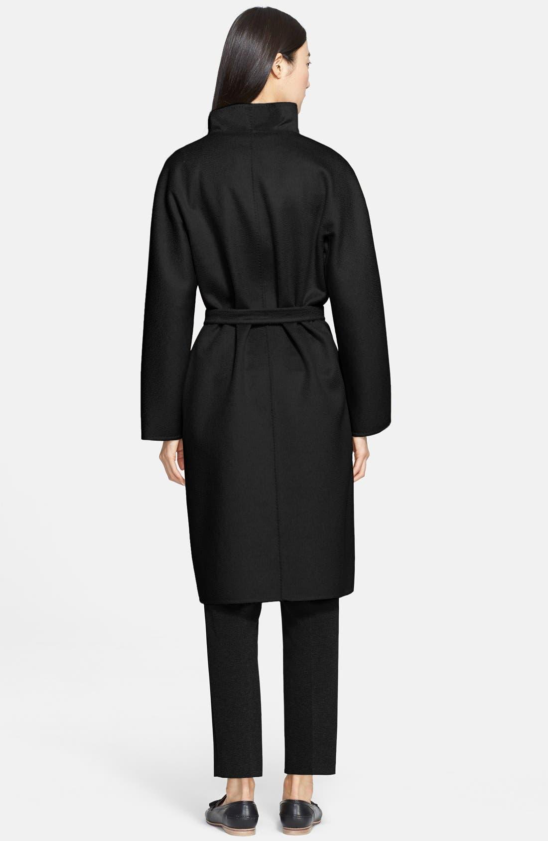 MAX MARA,                             'Lilia' Belted Cashmere Coat,                             Alternate thumbnail 3, color,                             001