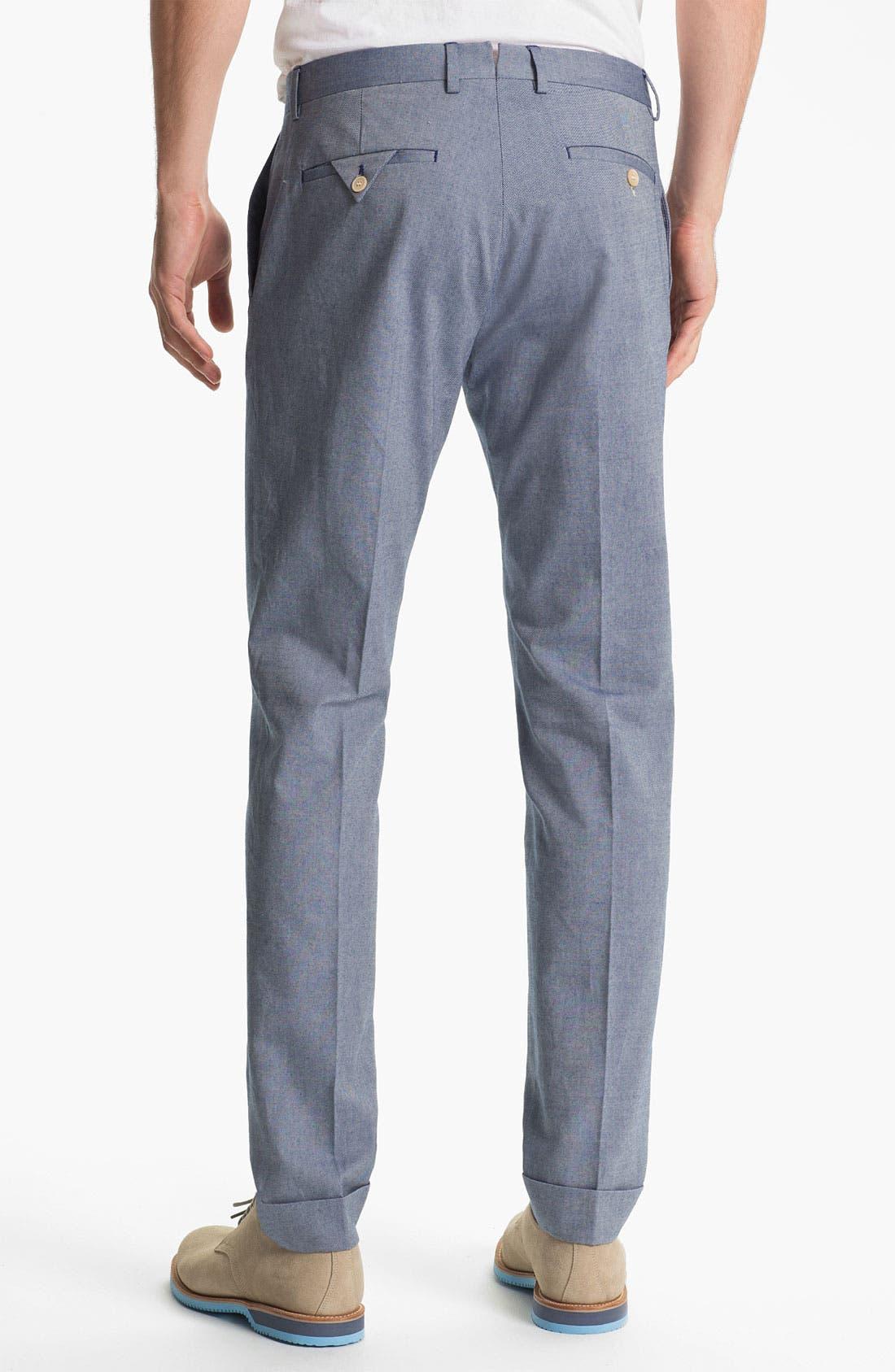 'Smarty' Slim Straight Leg Pants,                             Alternate thumbnail 2, color,                             405