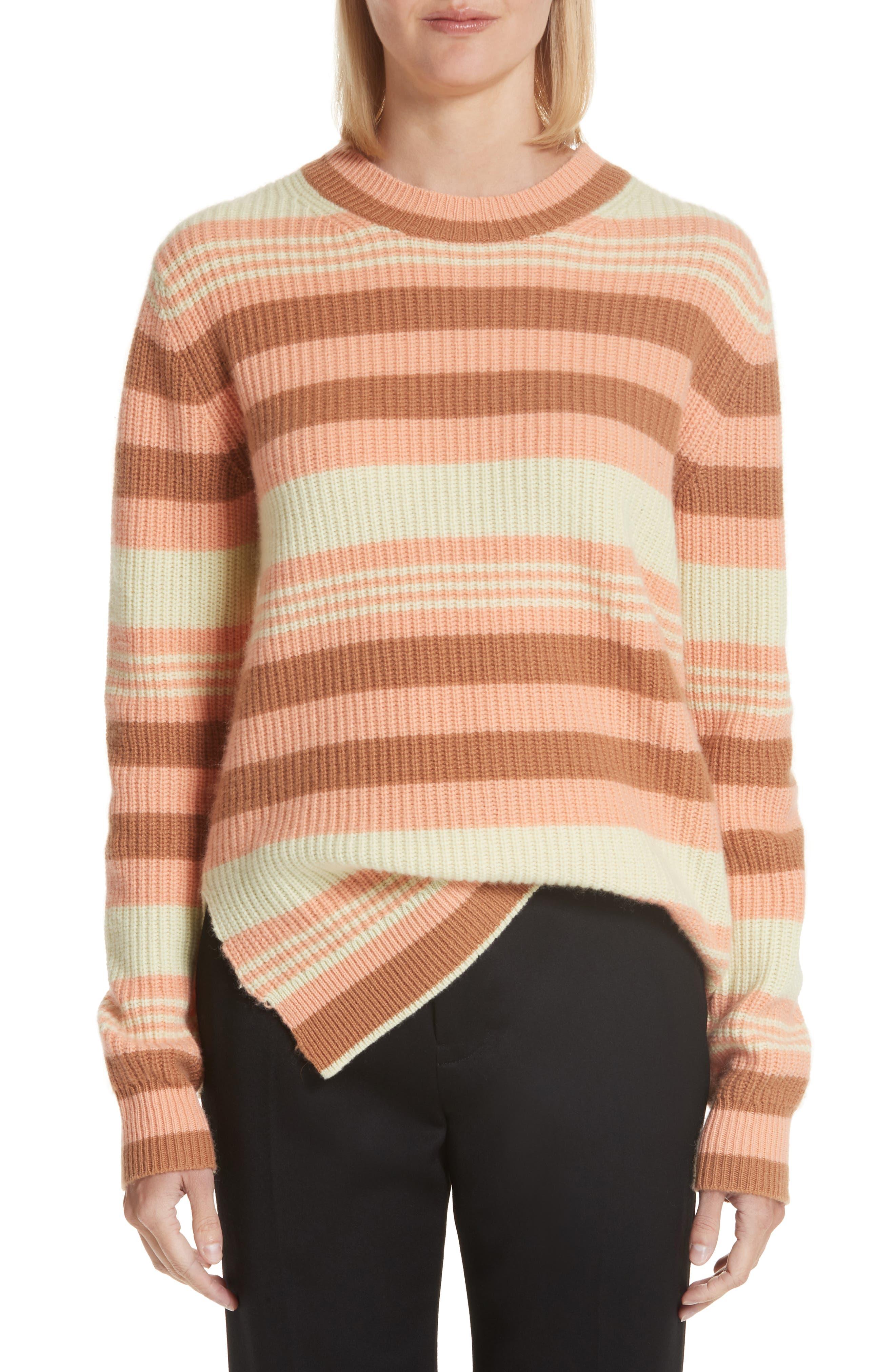 Sies Marjan Shay Stripe Merino Wool Sweater, Yellow