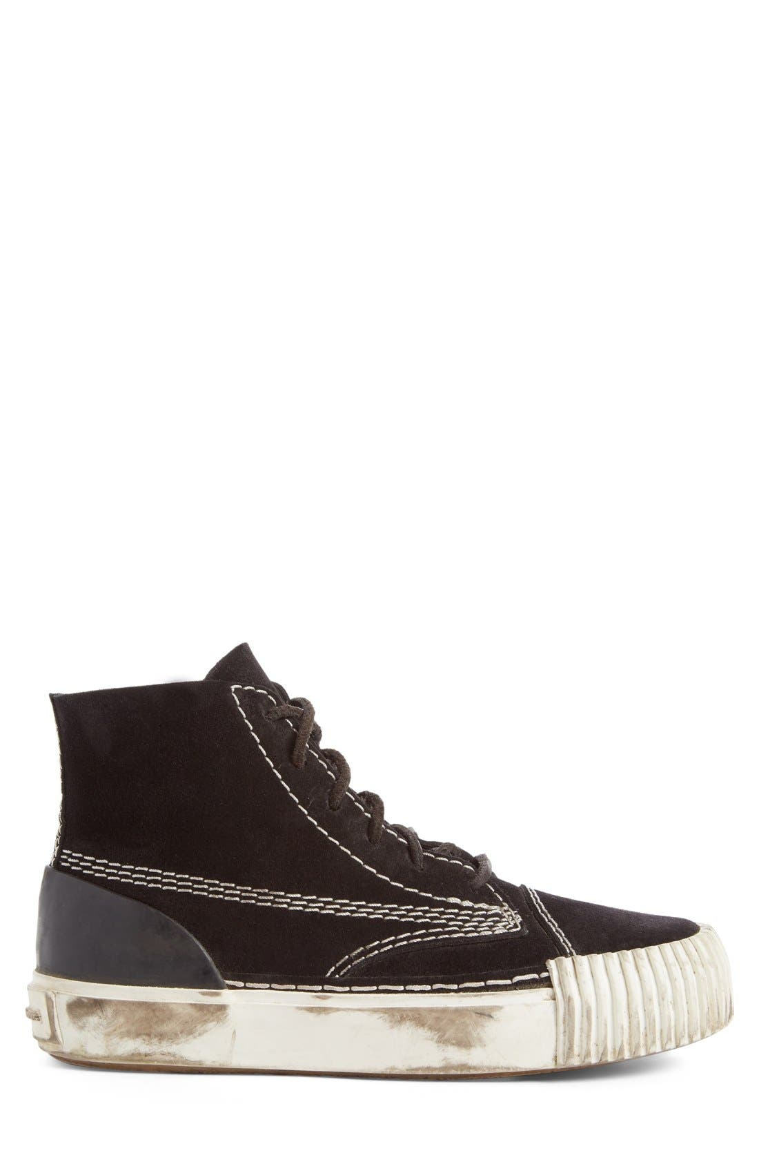 'Perry' Suede High Top Sneaker,                             Alternate thumbnail 9, color,                             001