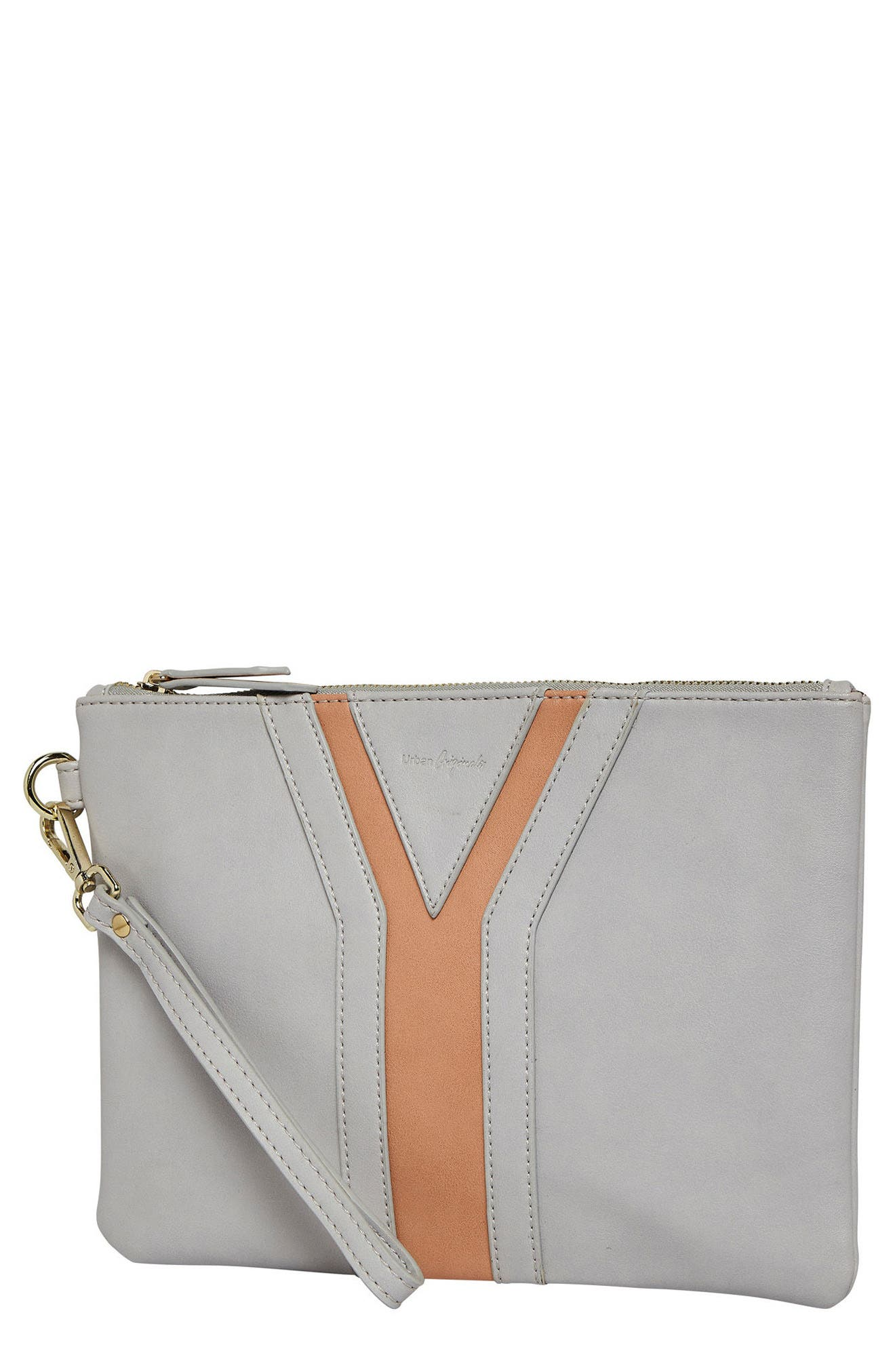 All She Wants Vegan Leather Clutch,                             Main thumbnail 3, color,